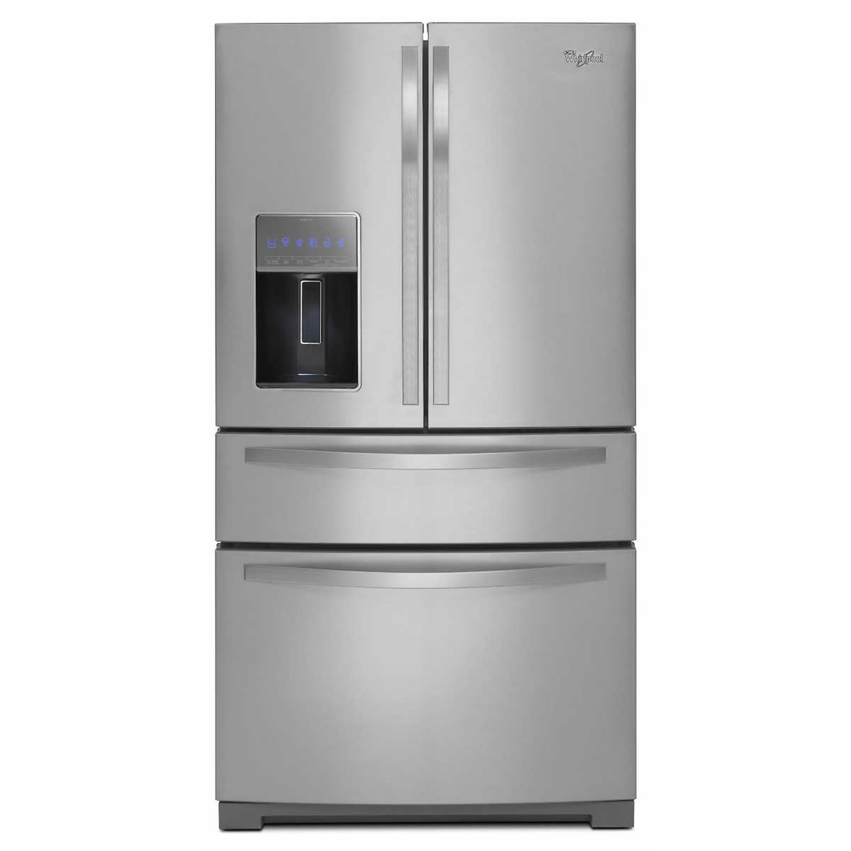 Whirlpool white ice refrigerator counter depth - Whirlpool 26cuft 4 Door French Door Stainless Steel Refrigerator With More Flexible Storage