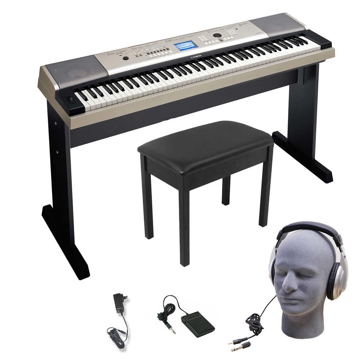 yamaha ypg535 88 key keyboard bundle 859974004114 ebay. Black Bedroom Furniture Sets. Home Design Ideas