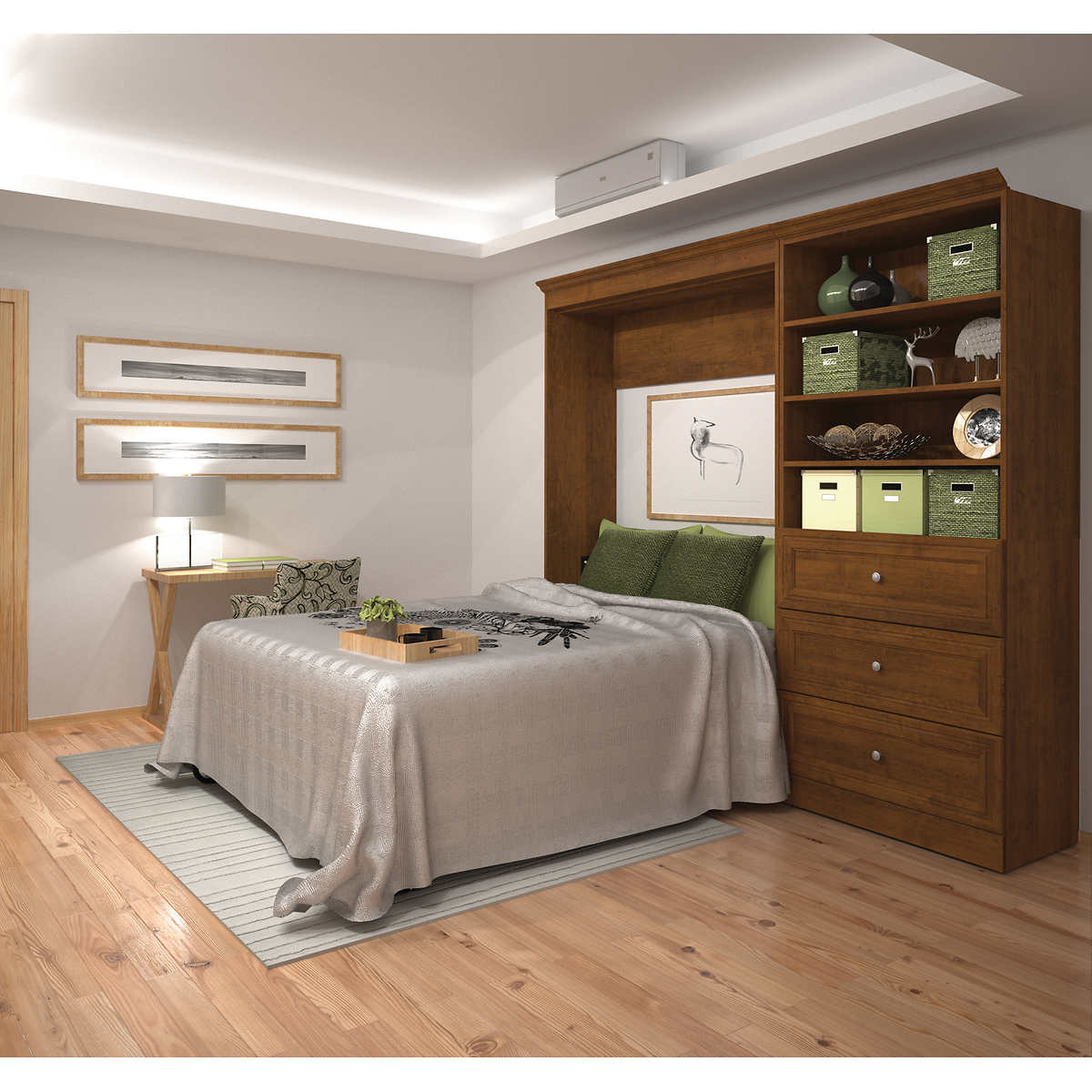 Bestar audrea full wall bed with 36 storage unit with drawers in bestar audrea full wall bed with 36 storage unit with drawers in tuscany amipublicfo Image collections