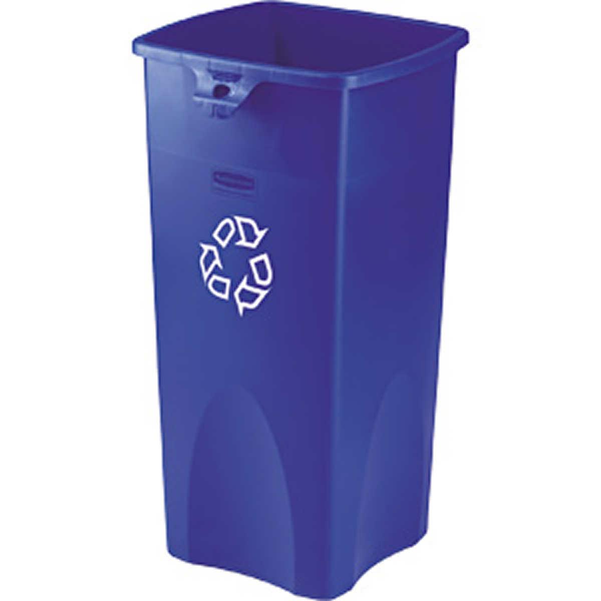 Rubbermaid Untouchable Recycling Bin Blue 23 Gal