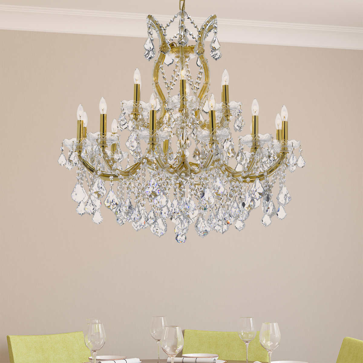 Lighting by pecaso maria theresa in gold or chrome click to zoom arubaitofo Gallery