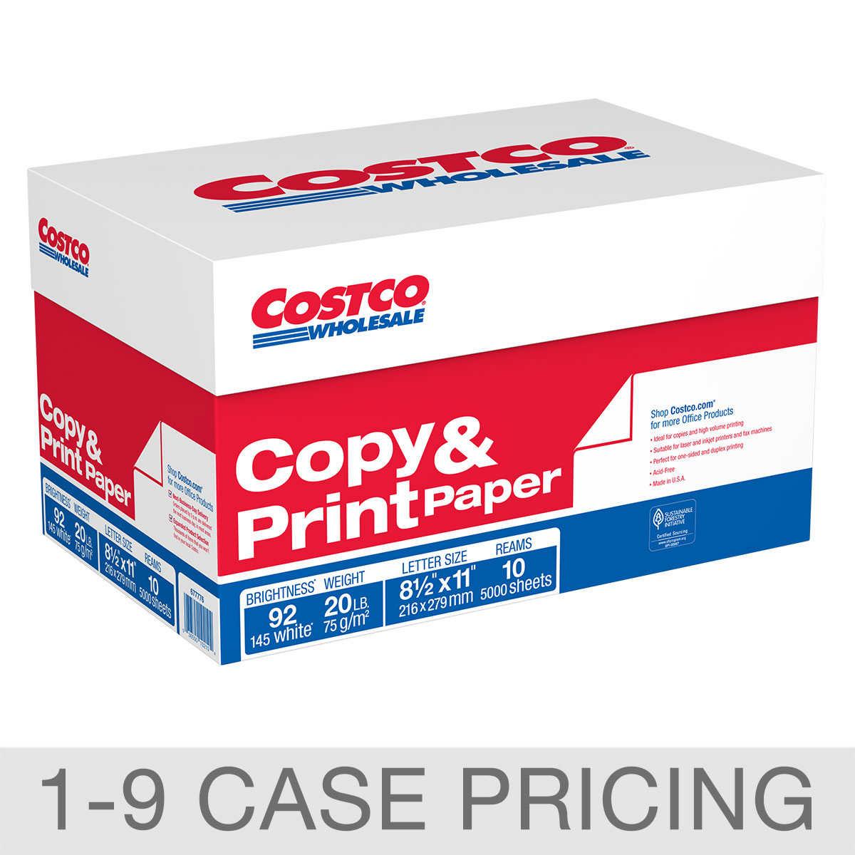 copy multipurpose paper costco copy paper letter 20lb 92 bright 5 000ct 1