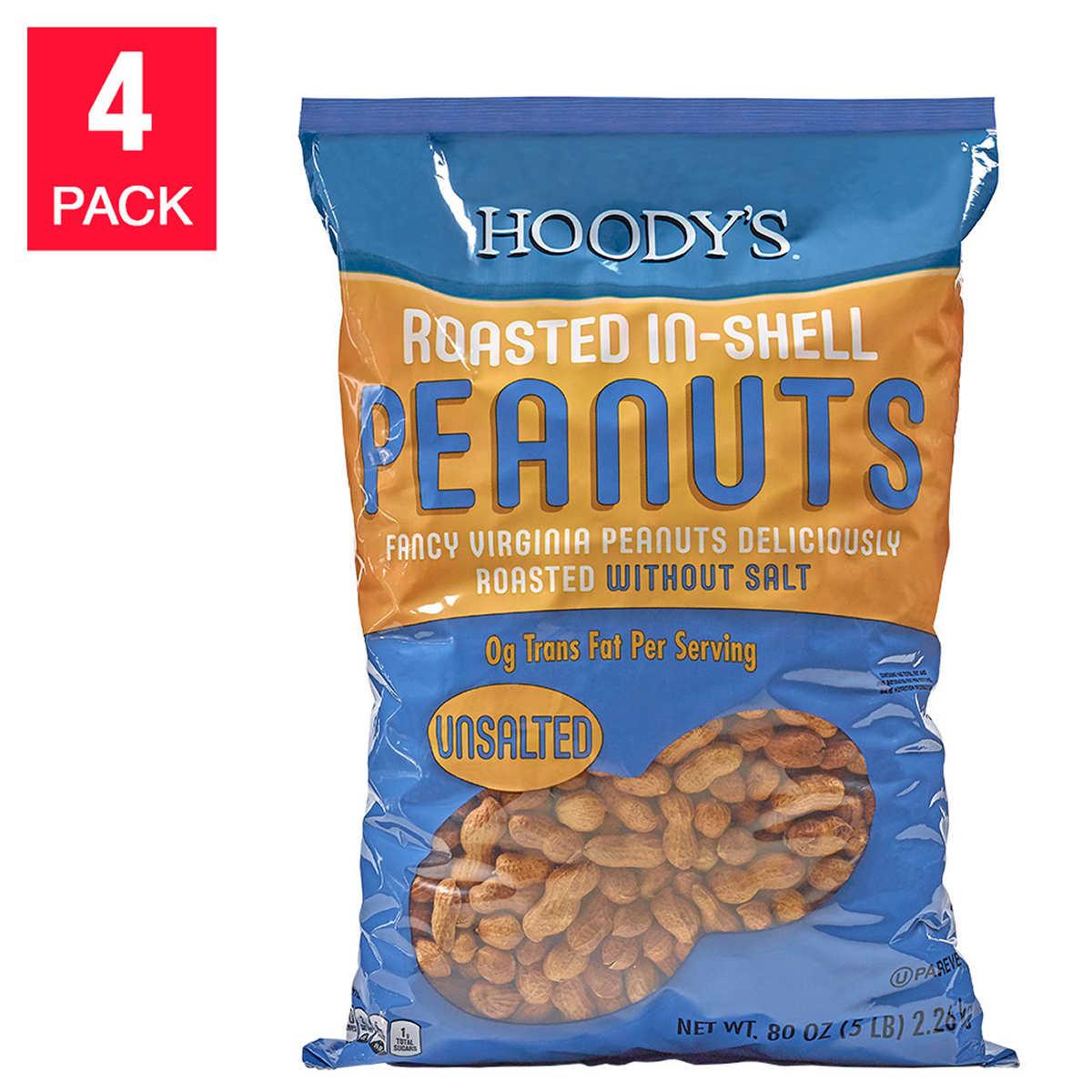 Hoody S Roasted Unsalted Peanuts 20 Lbs 4 Pack