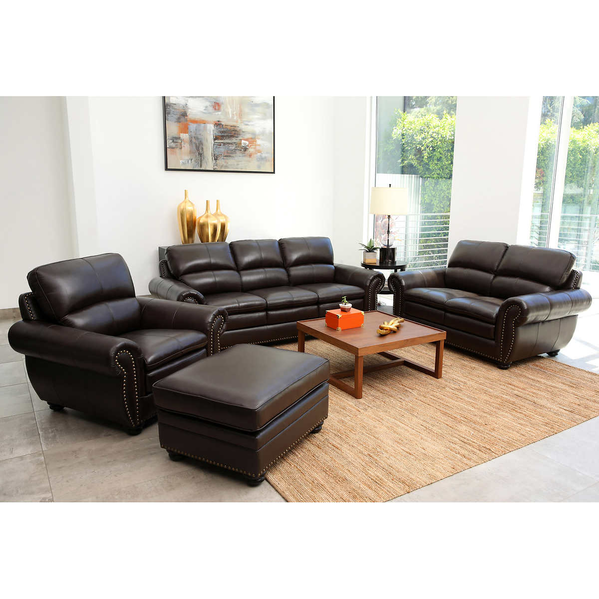 Kingsbury 4 Piece Leather Set 1