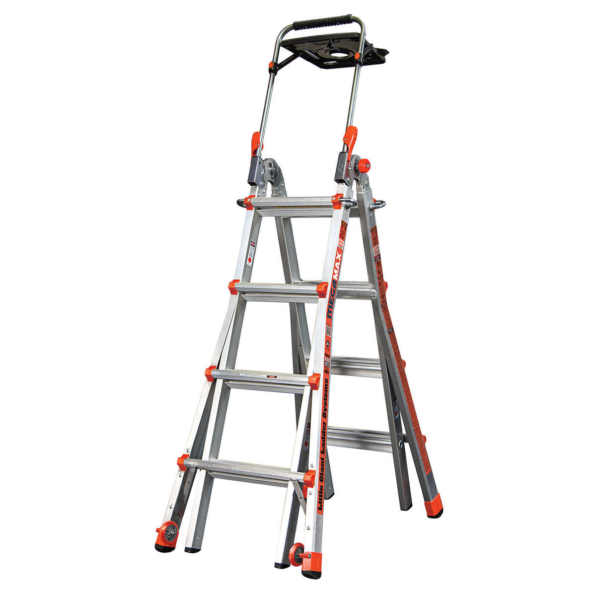 Little Giant MegaMax 17 Ladder w/Air Deck Extend to 15 ft