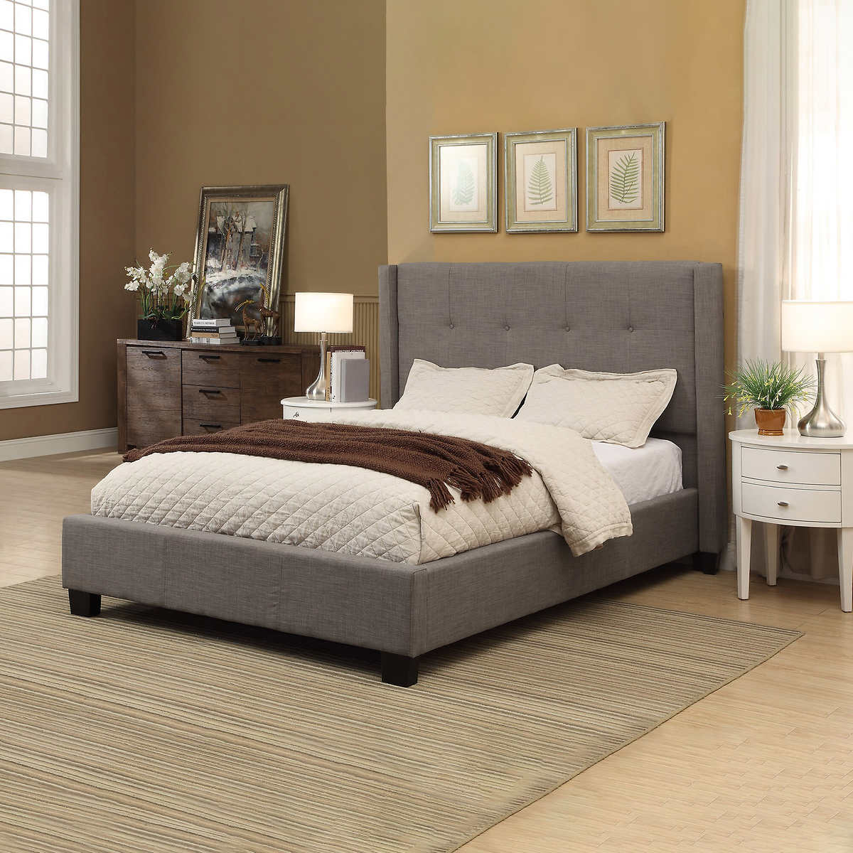 macallister cal king upholstered bed