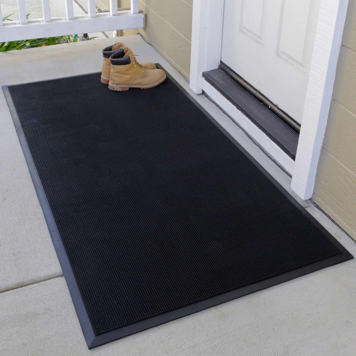 Black Floor Tile floor tile porcelain stoneware polished parquet look wood impressions black walnut Royal Entrance Mat 36