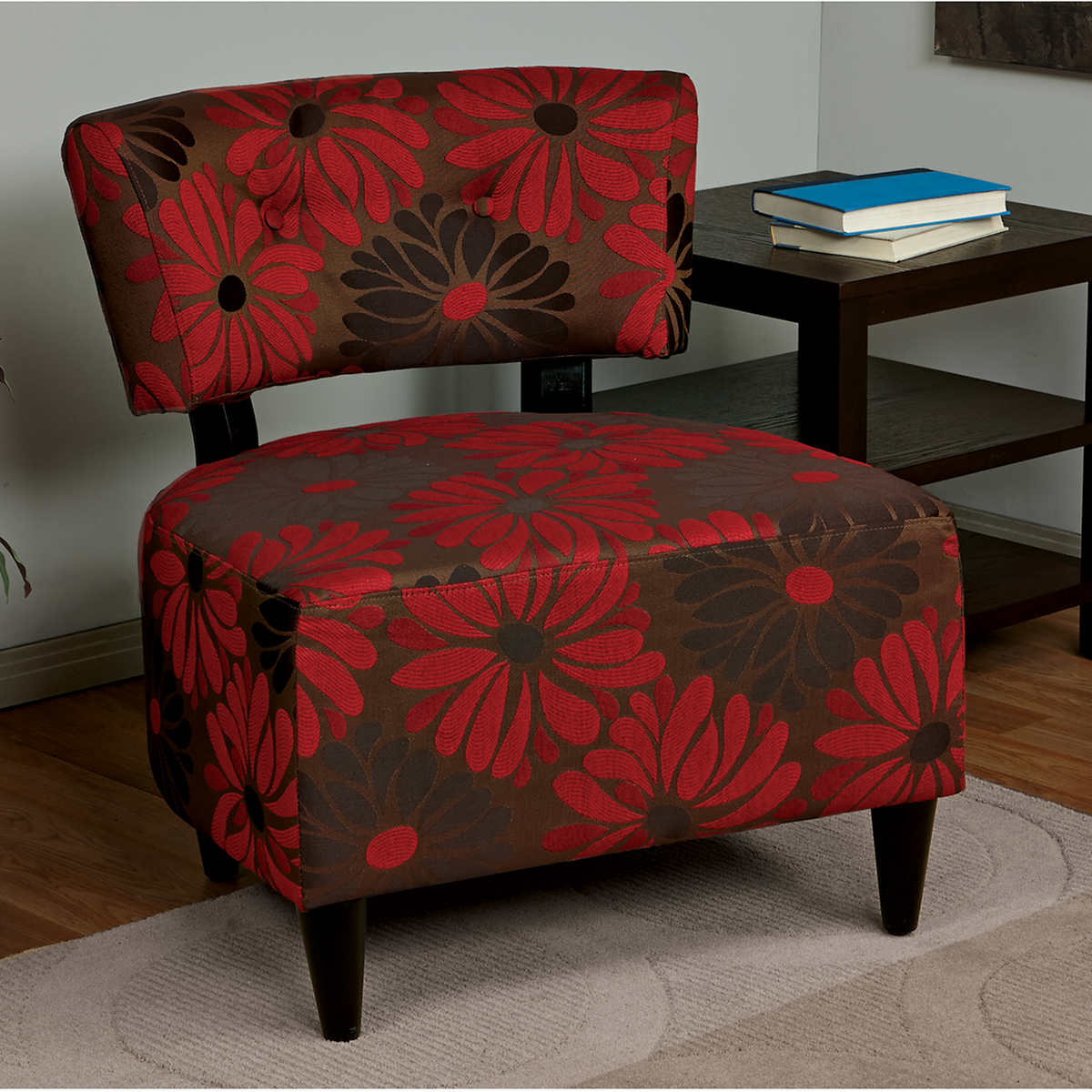 Ottoman turns into chair - Sarina Fabric Accent Chair