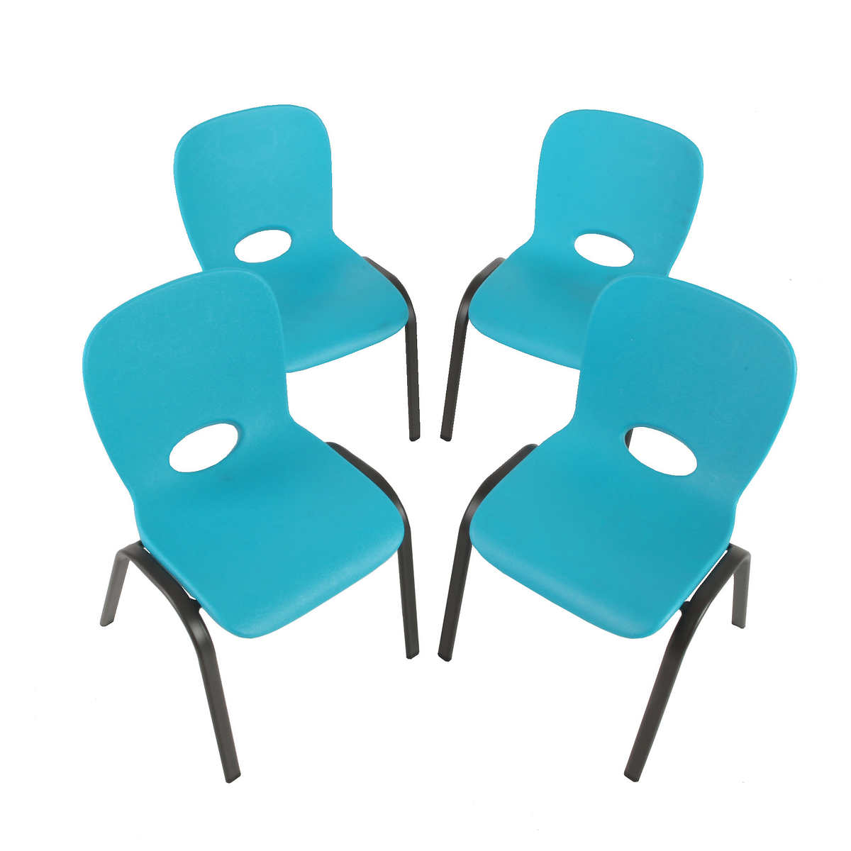 Kids stacking chairs - Lifetime Kids Stacking Chair 4pk Blue