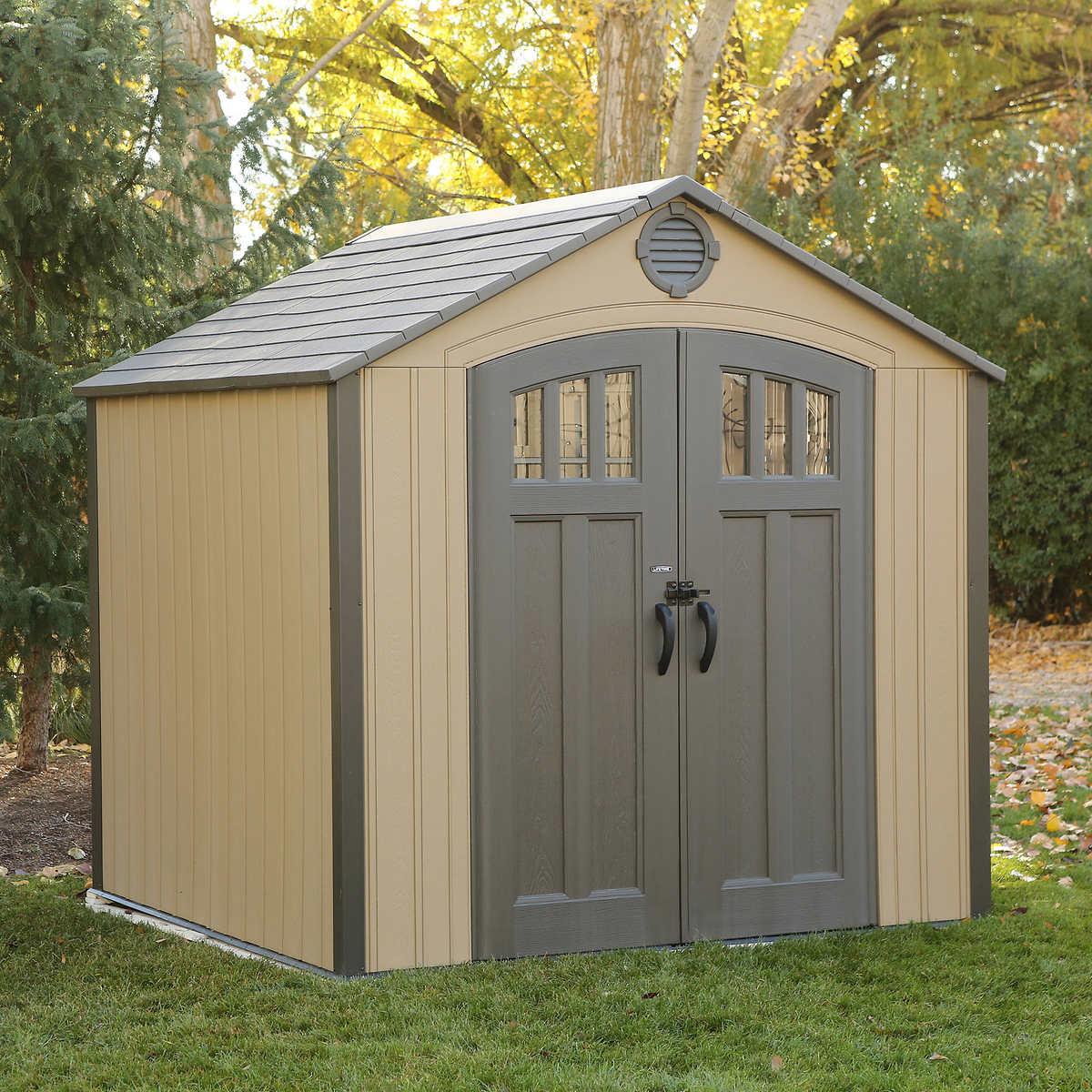 lifetime 8 x 75 storage shed