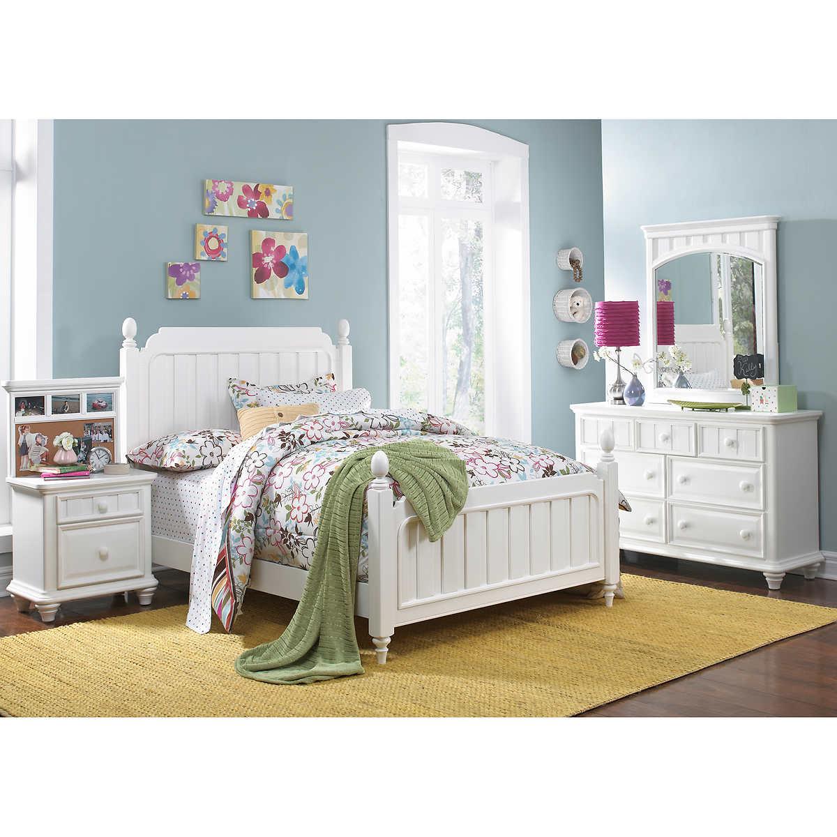 Zoe 4 Piece Full Bedroom Set