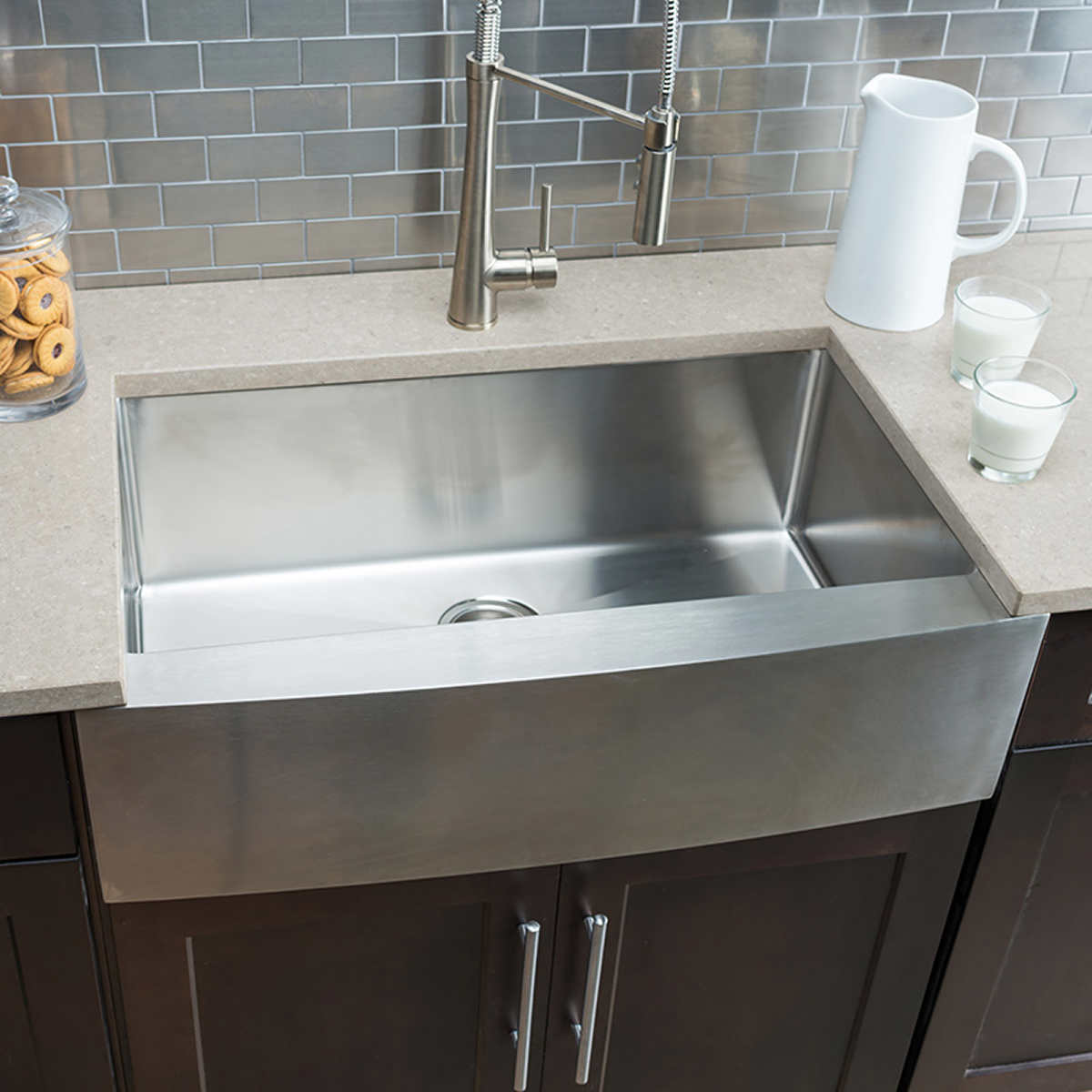 Hahn Chef Series Handmade Large Single Bowl Farmhouse Sink