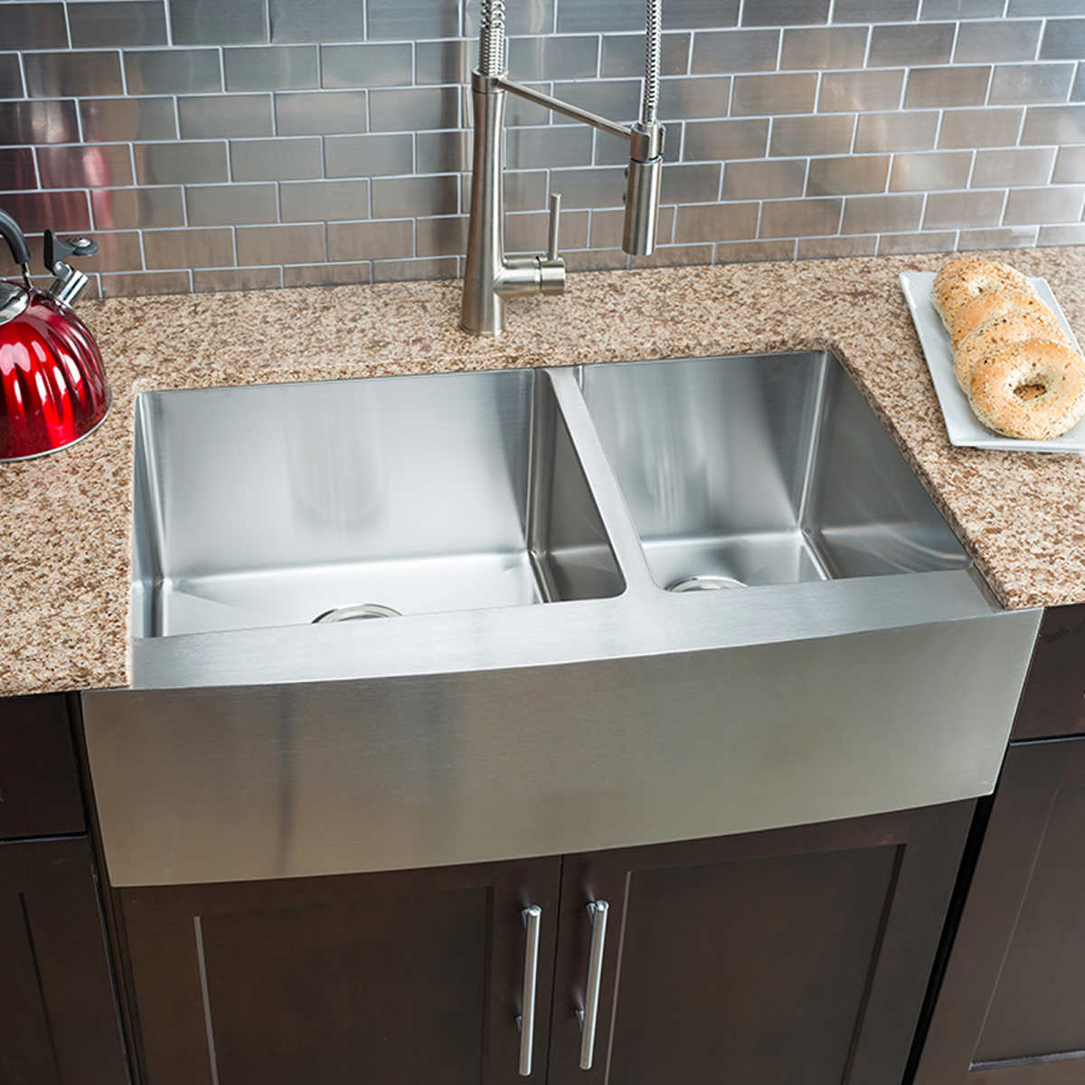 Hahn Chef Series Handmade Large 60 40 Farmhouse Sink
