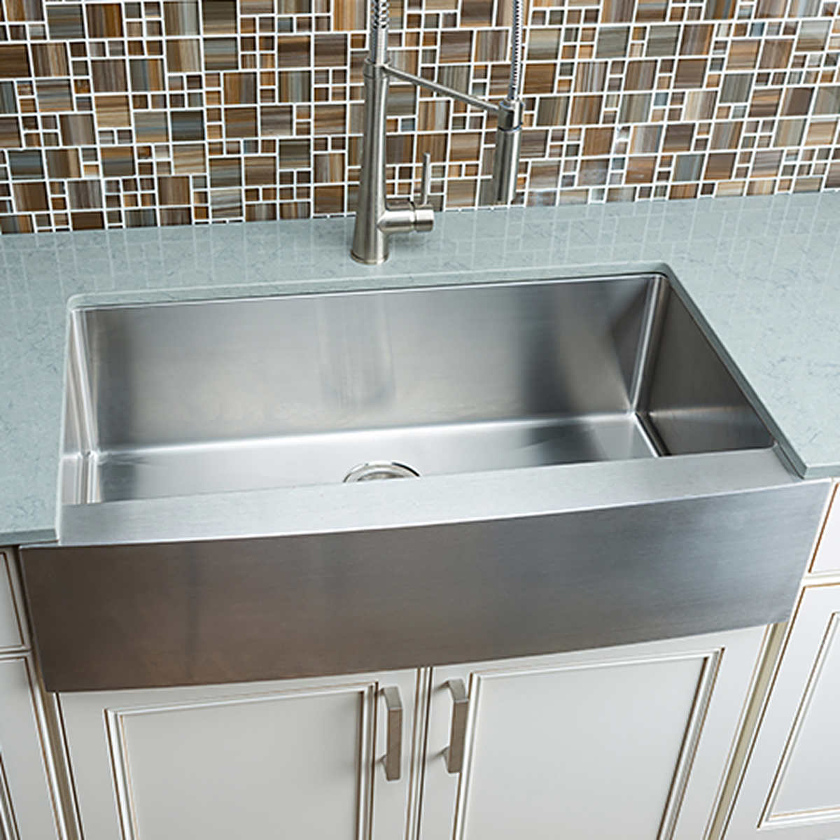 kitchen sinks kitchen sink sizes Hahn Chef Series Handmade Extra Large Single Bowl Farmhouse Sink