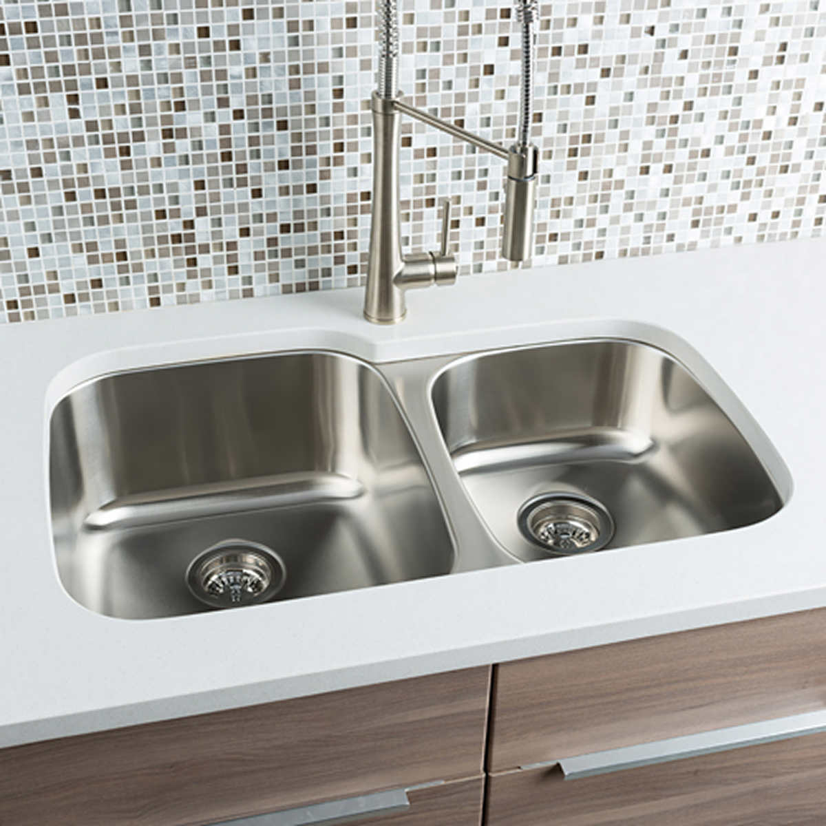 Hahn Chef Series Handmade 60/40 Double Bowl Sink