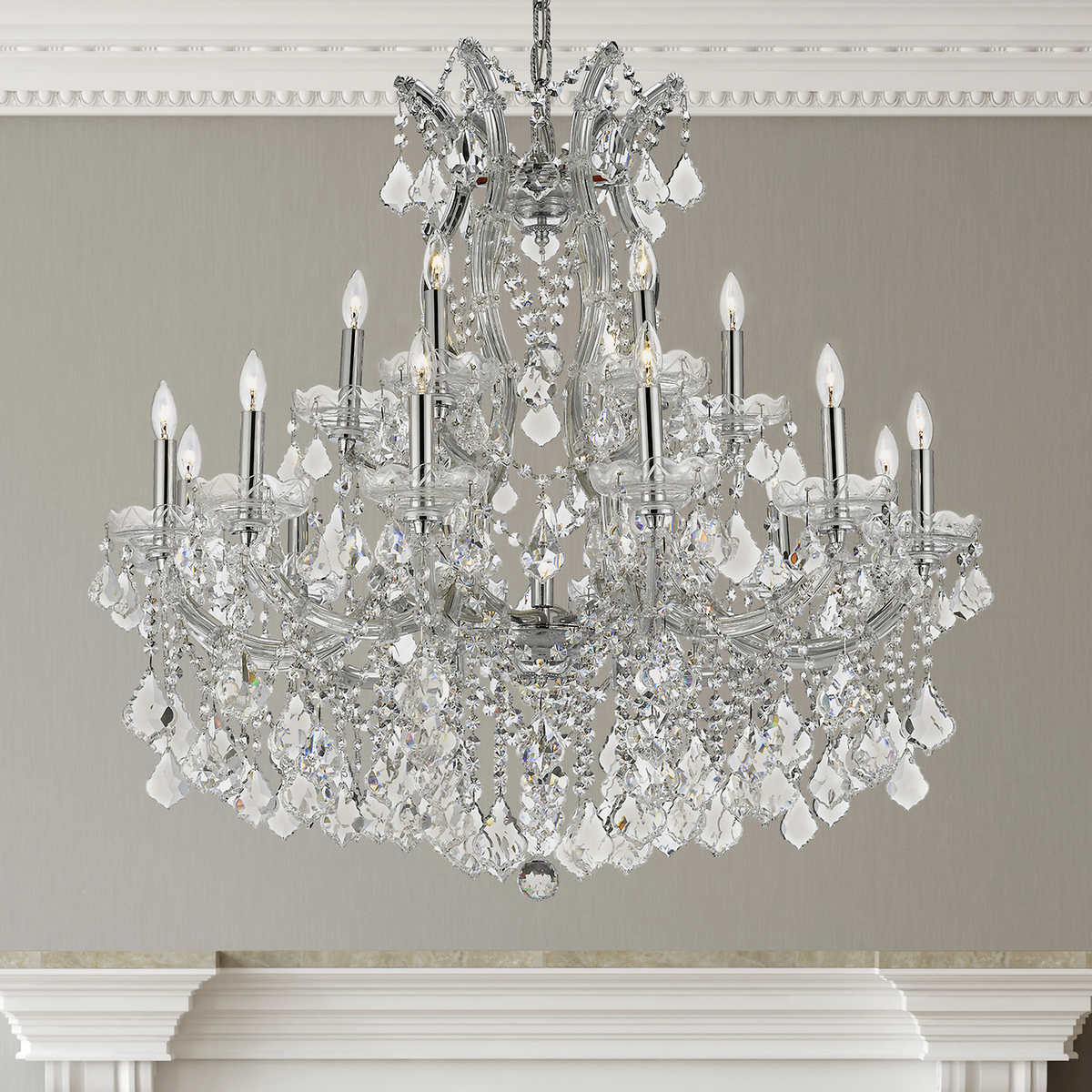 Lighting by pecaso chrome maria theresa chandelier maria theresa chandelier item 745091 click to zoom arubaitofo Choice Image