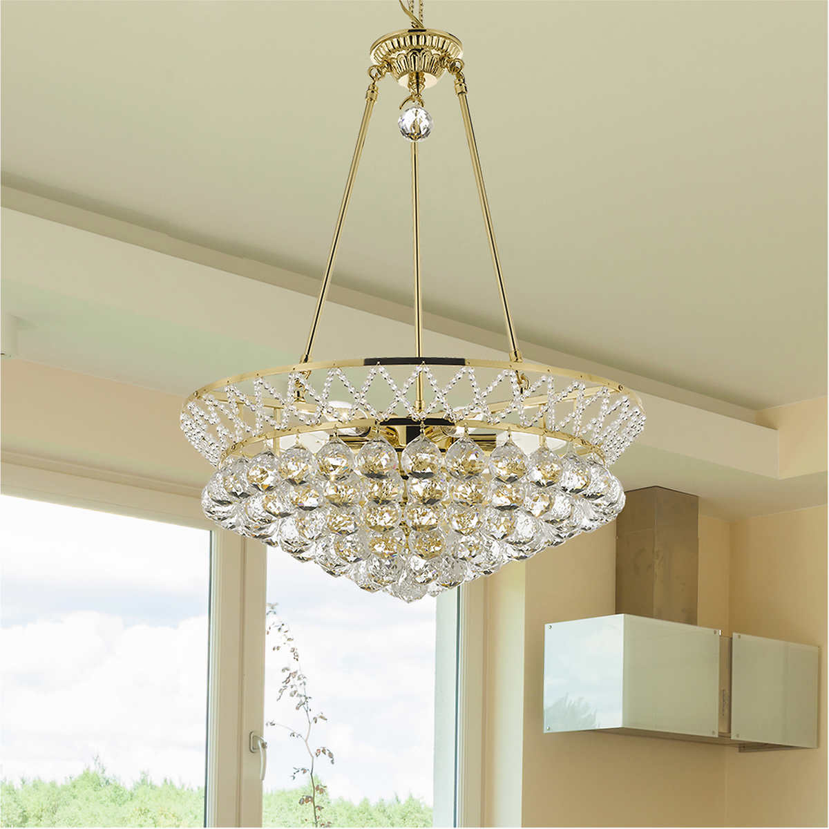 Lighting By Pecaso Gold Charlotte Chandelier