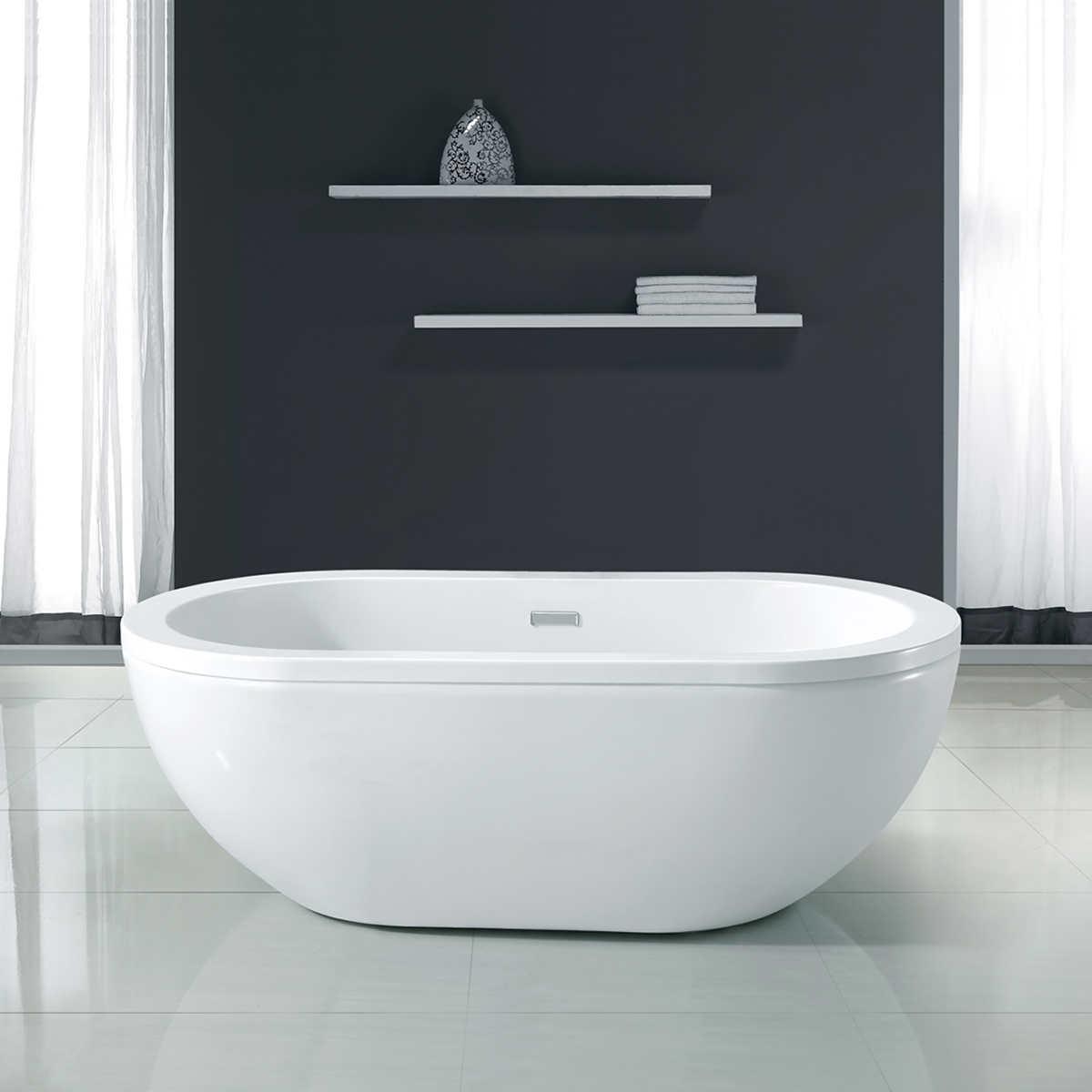 Click to Zoom. Ove Decors Noah 63  Acrylic Bathtub