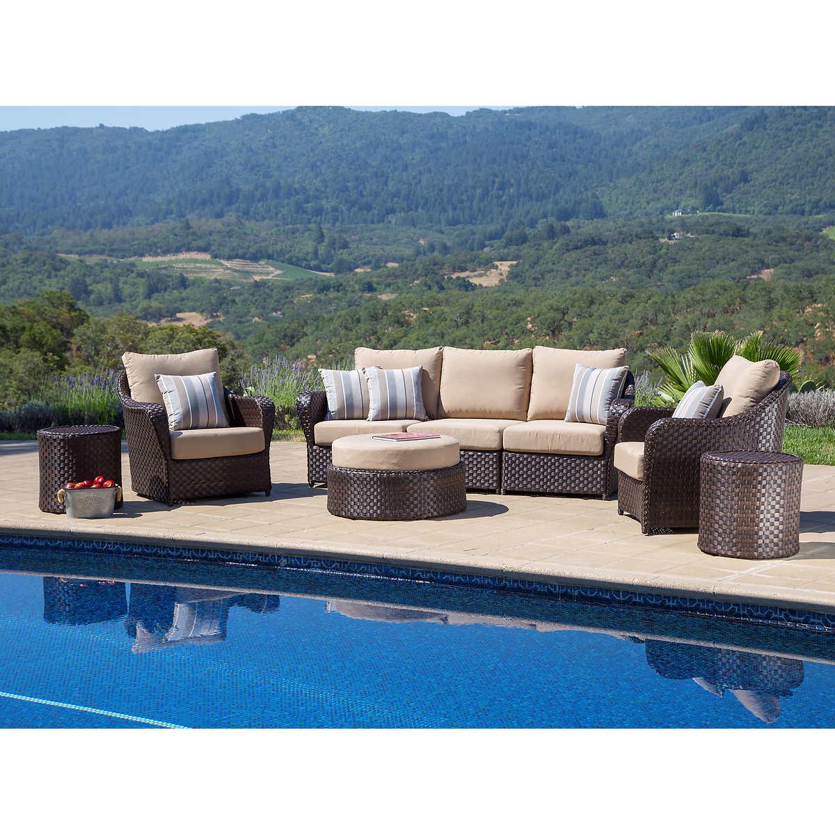 San Marino 8-piece Seating Set by Sirio - Seating Sets