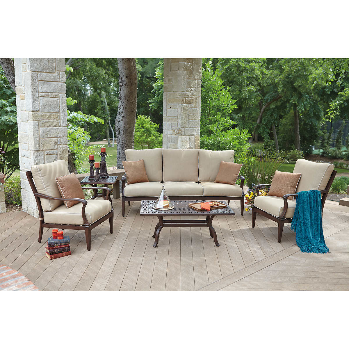 Siena 5-piece Seating Set by Woodard - Seating Sets Costco