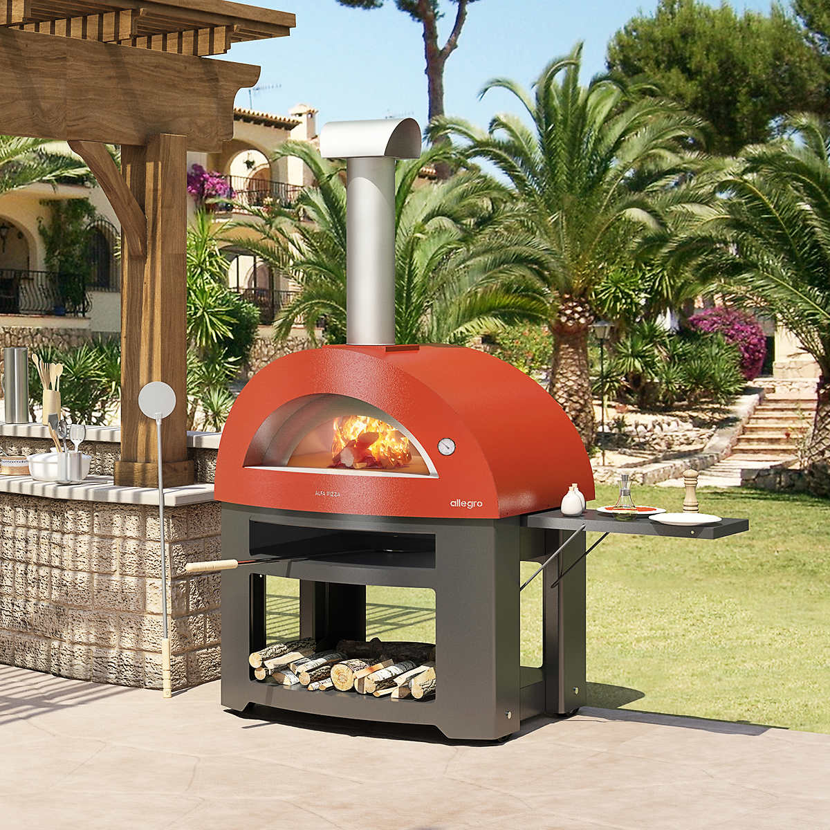 Italian Outdoor Kitchen Grills Accessories