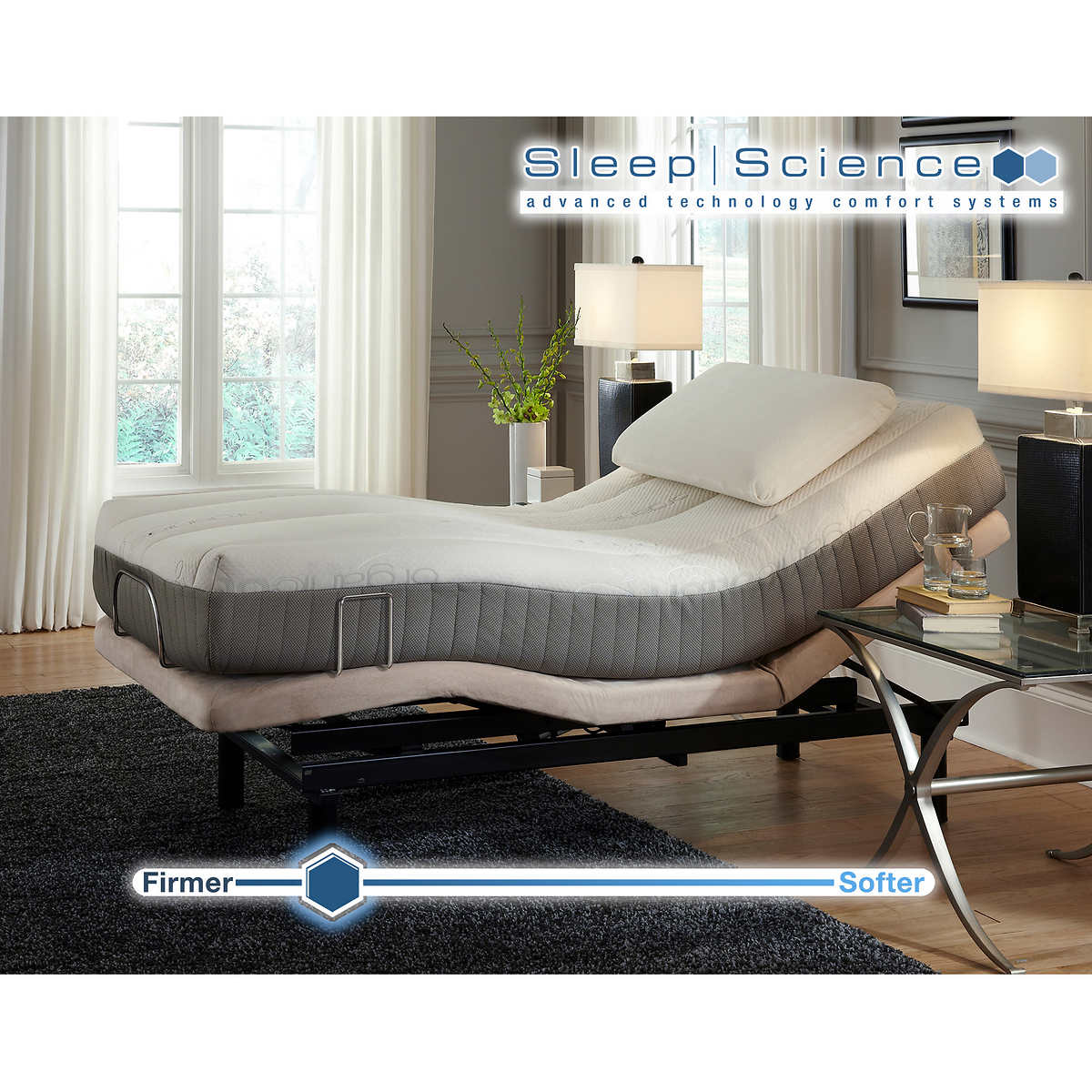 Twin size sleep number bed prices - Sleep Science 9 Natural Latex Twin Xl Mattress With Adjustable Power Base Meduim