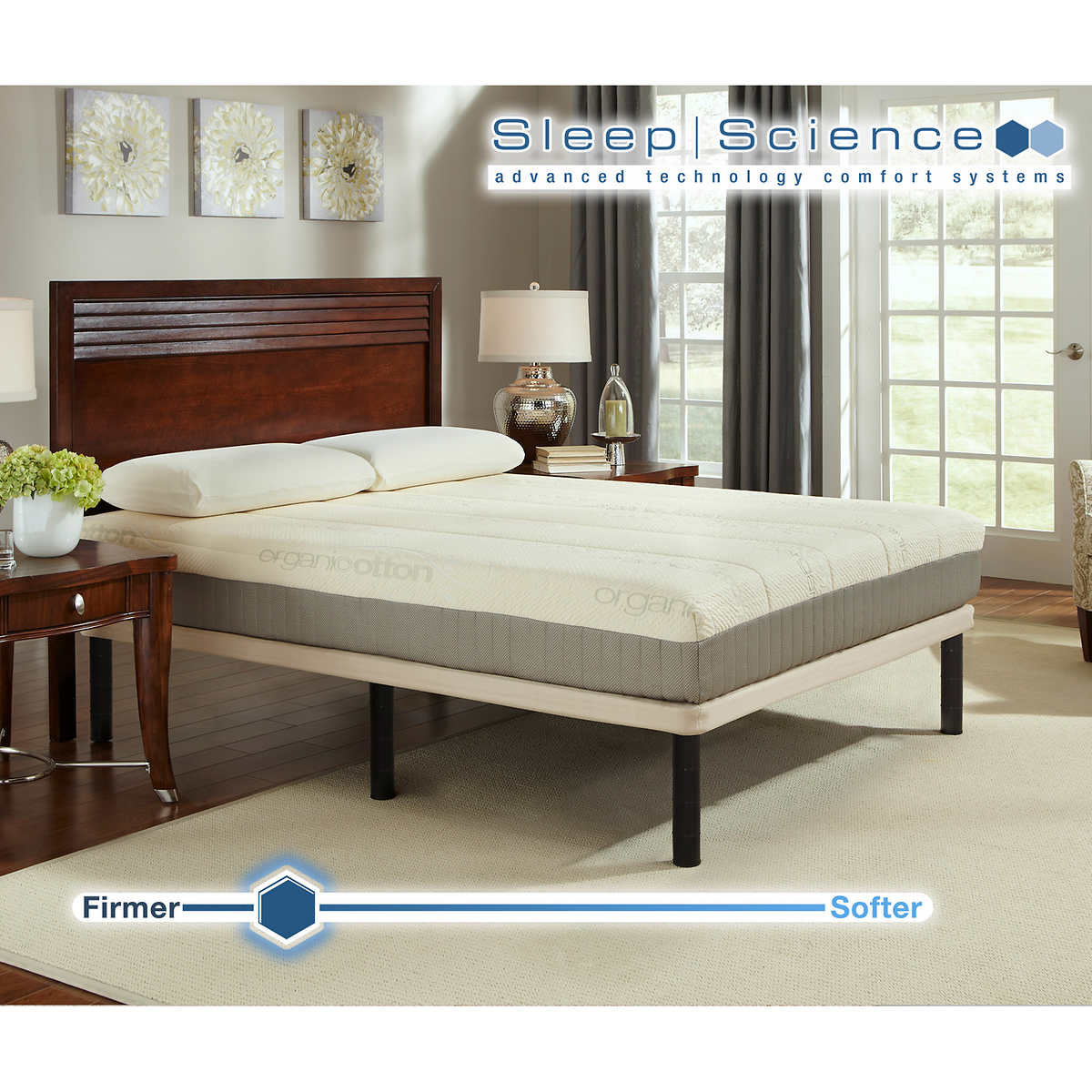 Sleep Science 9 Natural Latex Queen Mattress With Foundation Medium Firm