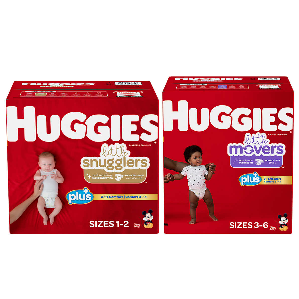huggies little snugglers plus diapers size 2 174 ct sealed 36000436341 ebay. Black Bedroom Furniture Sets. Home Design Ideas