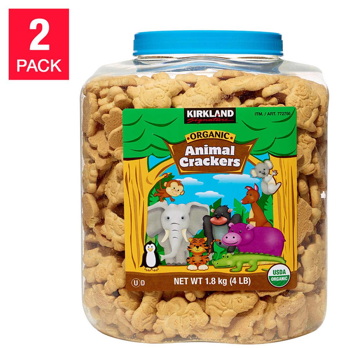 bakery desserts kirkland signature organic animal crackers 4lbs 2 count
