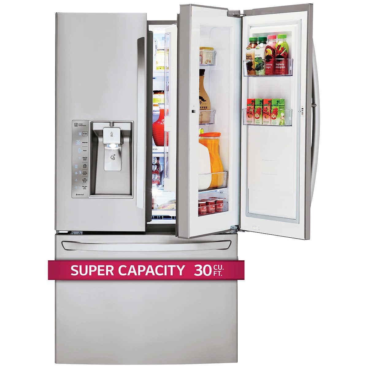 Lg 30cuft super capacity 3 door french door stainless steel 1 1 rubansaba