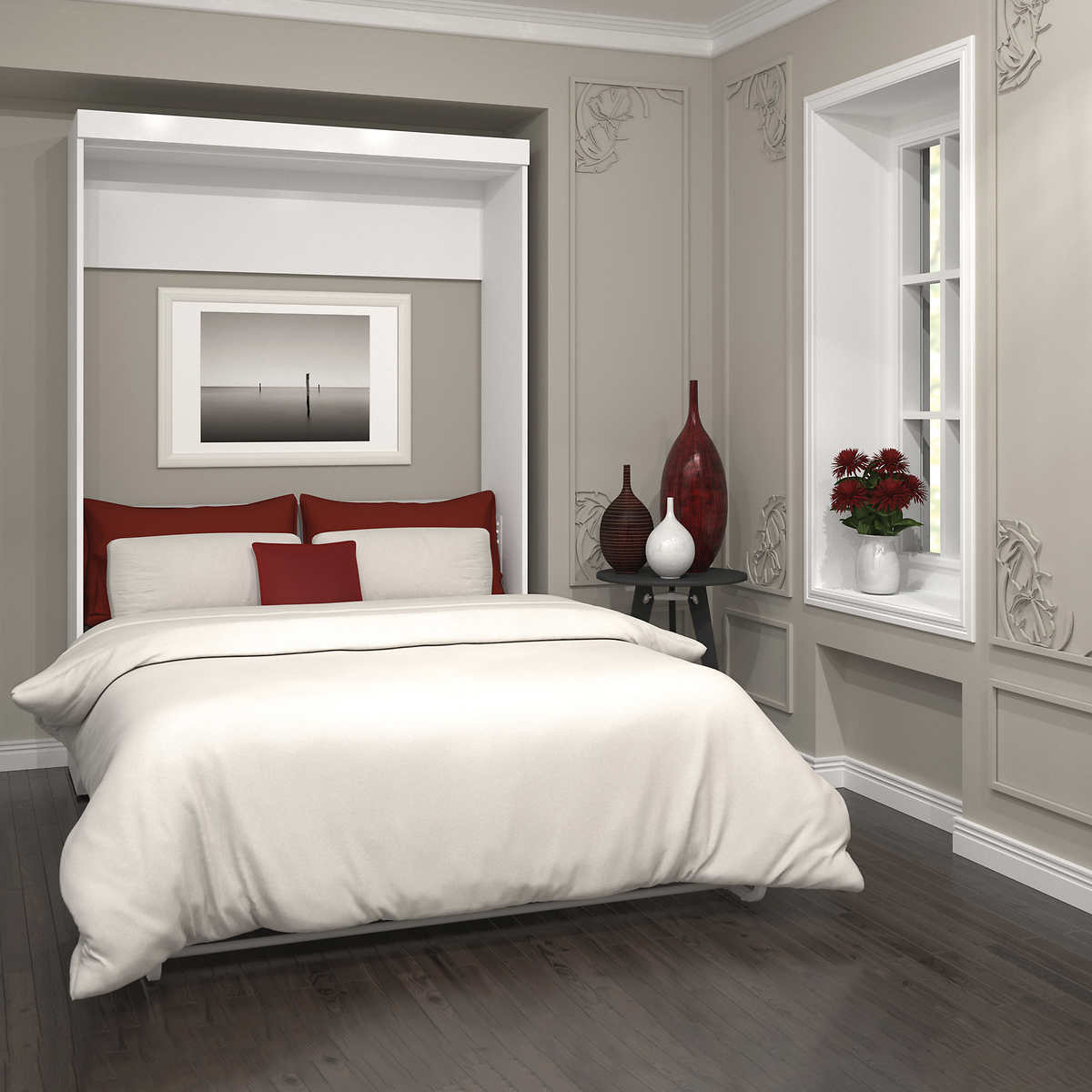 Boutique full wall bed in white amipublicfo Images