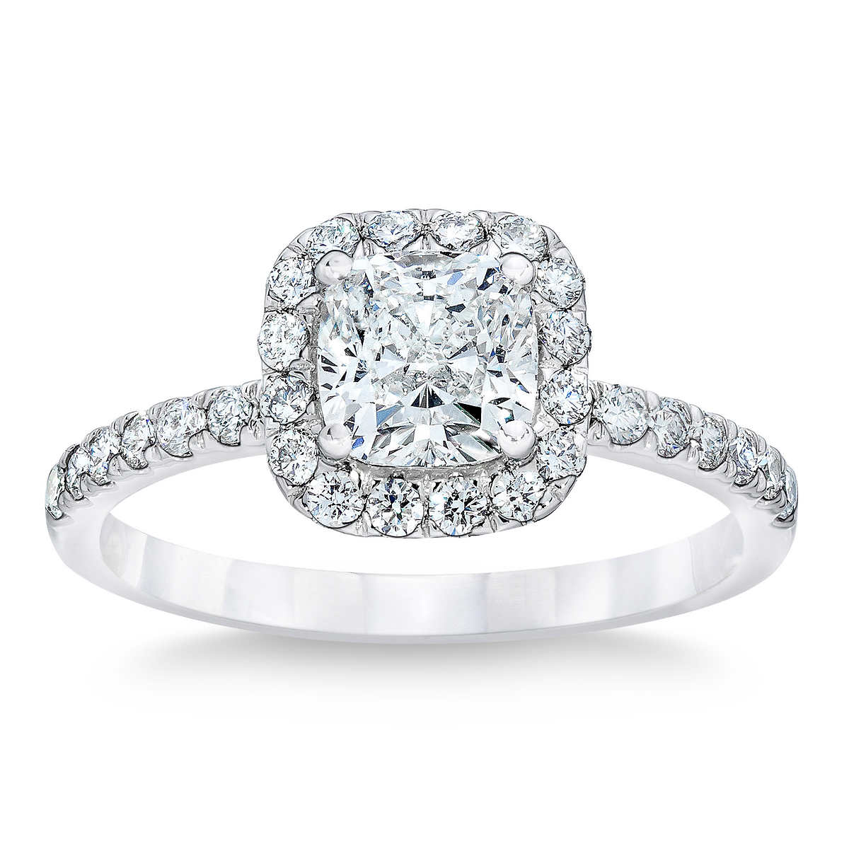 rings wedding ring Cushion Cut 2 55 ctw VS1 Clarity G Color Diamond Platinum Ring