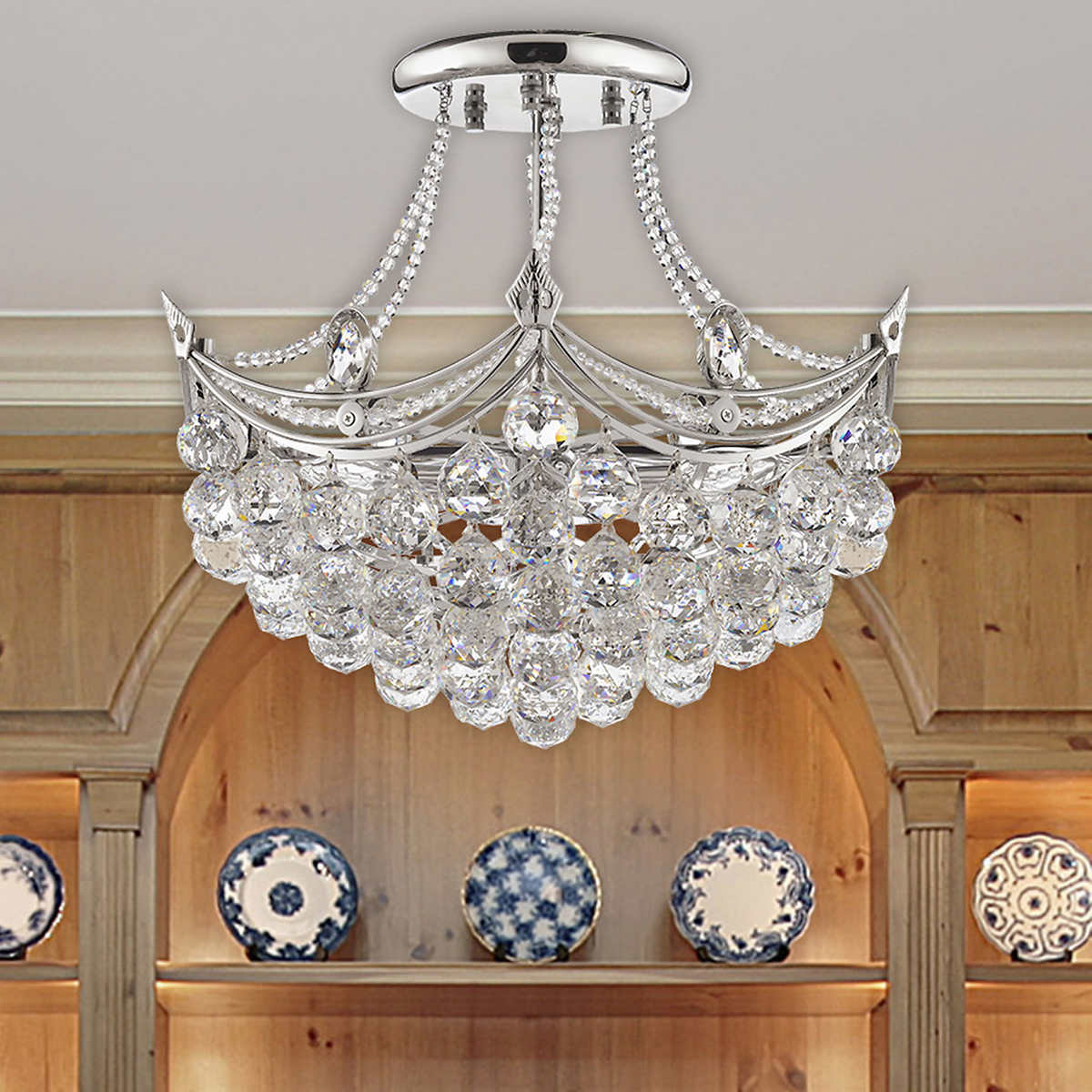 Lighting by pecaso pagoda chandelier in polished chrome 19l x 20 lighting by pecaso pagoda chandelier in polished chrome 19l x 20w 25 lbs number of lights 6 arubaitofo Choice Image
