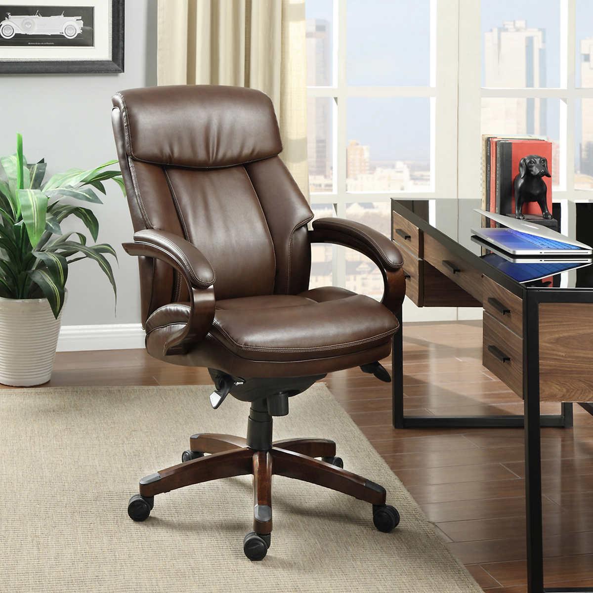 La-Z-Boy Executive Leather Office Chair 757104161563 | eBay