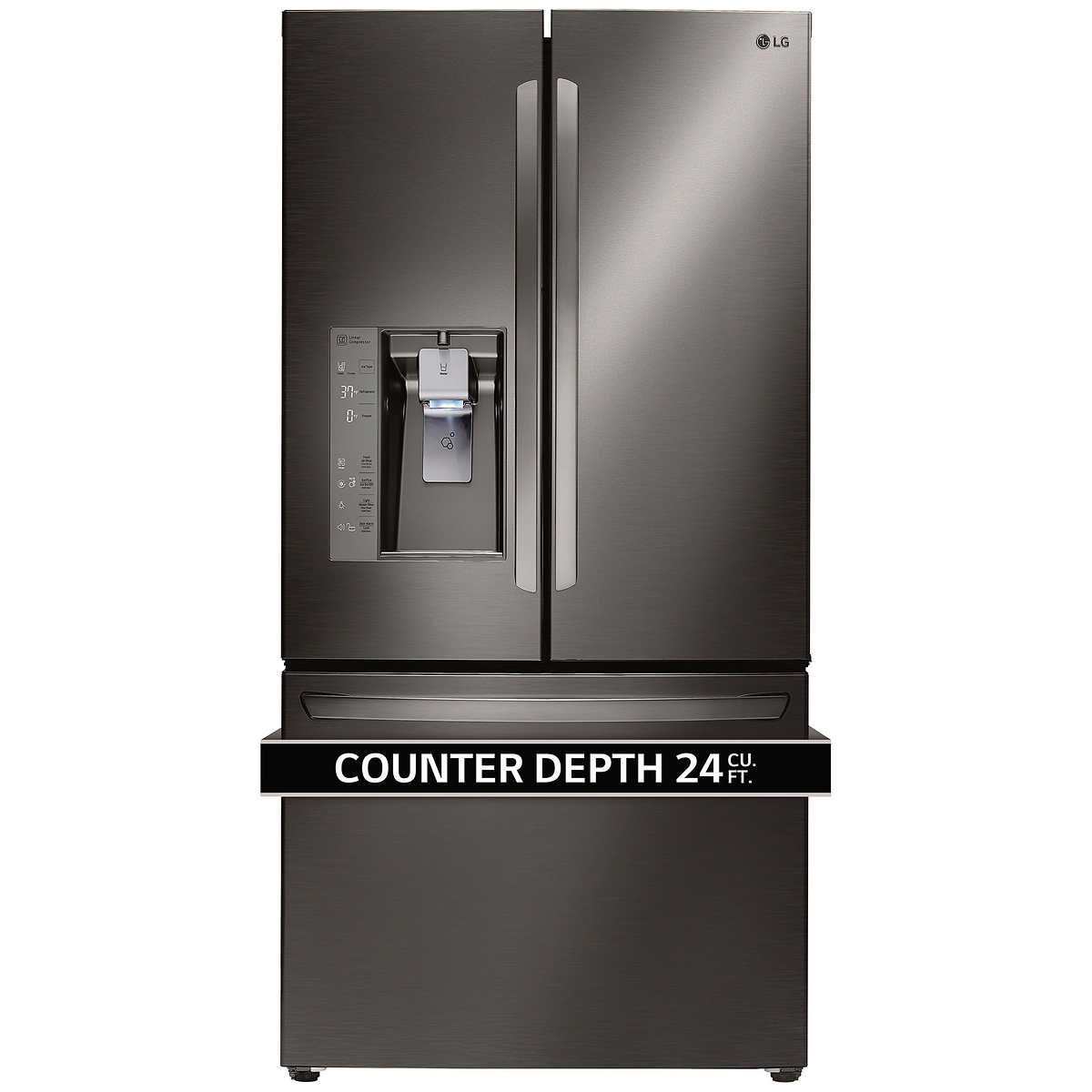 Whirlpool white ice costco - Lg 24cuft 3 Door French Door Ultra Capacity Counter Depth Refrigerator In Black Stainless