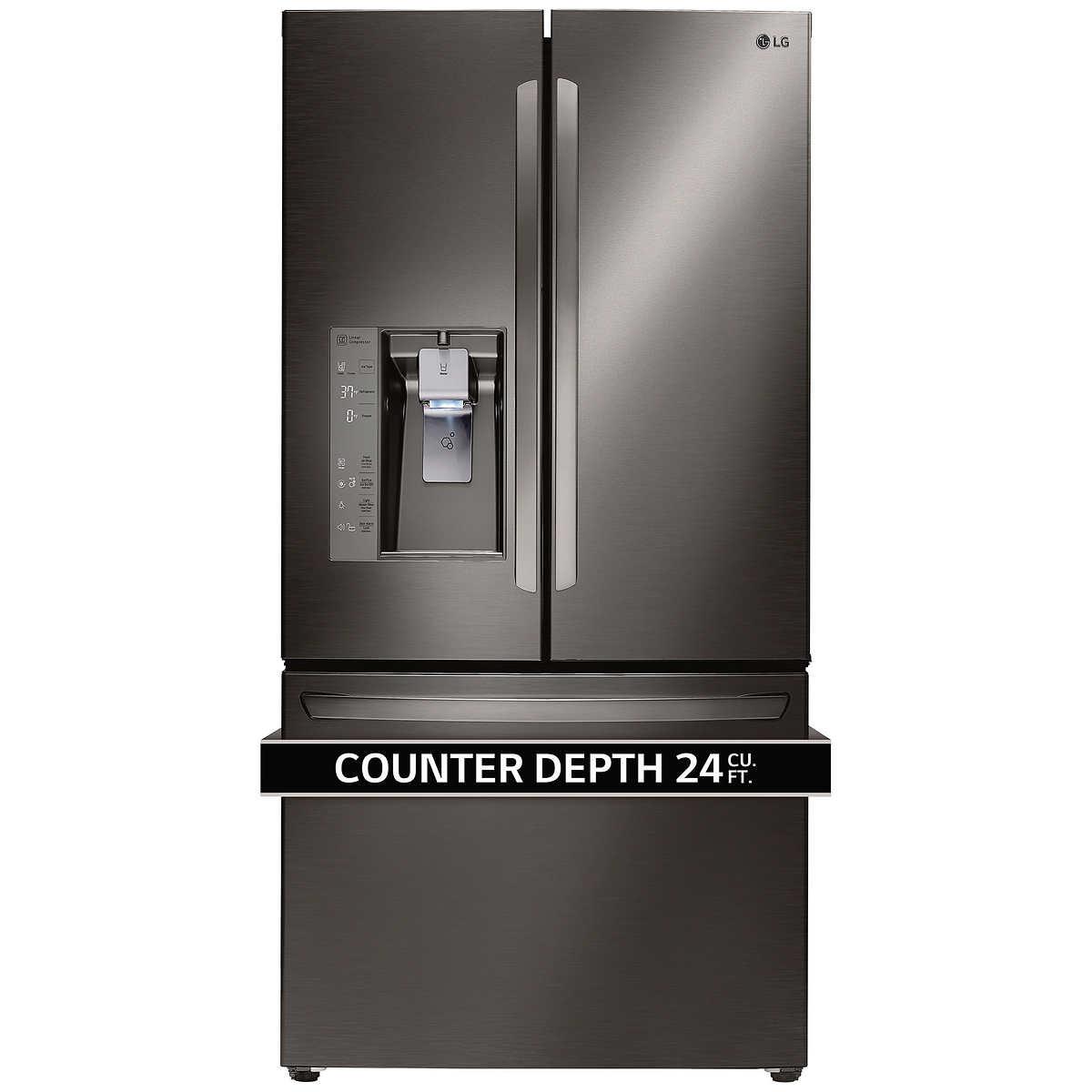 Counter Depth Refrigerator Only Lg 24cuft 3 Door French Door Ultra Capacity Counter Depth