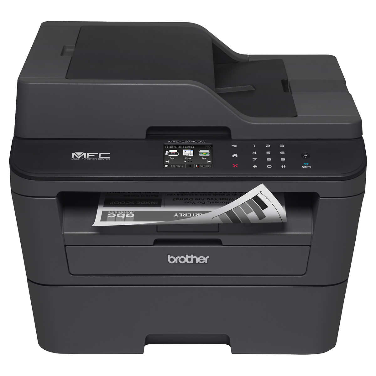Hp hp color laser printers 11x17 - Brother Mfc L2740dw Compact Black White Laser All In One Printer With