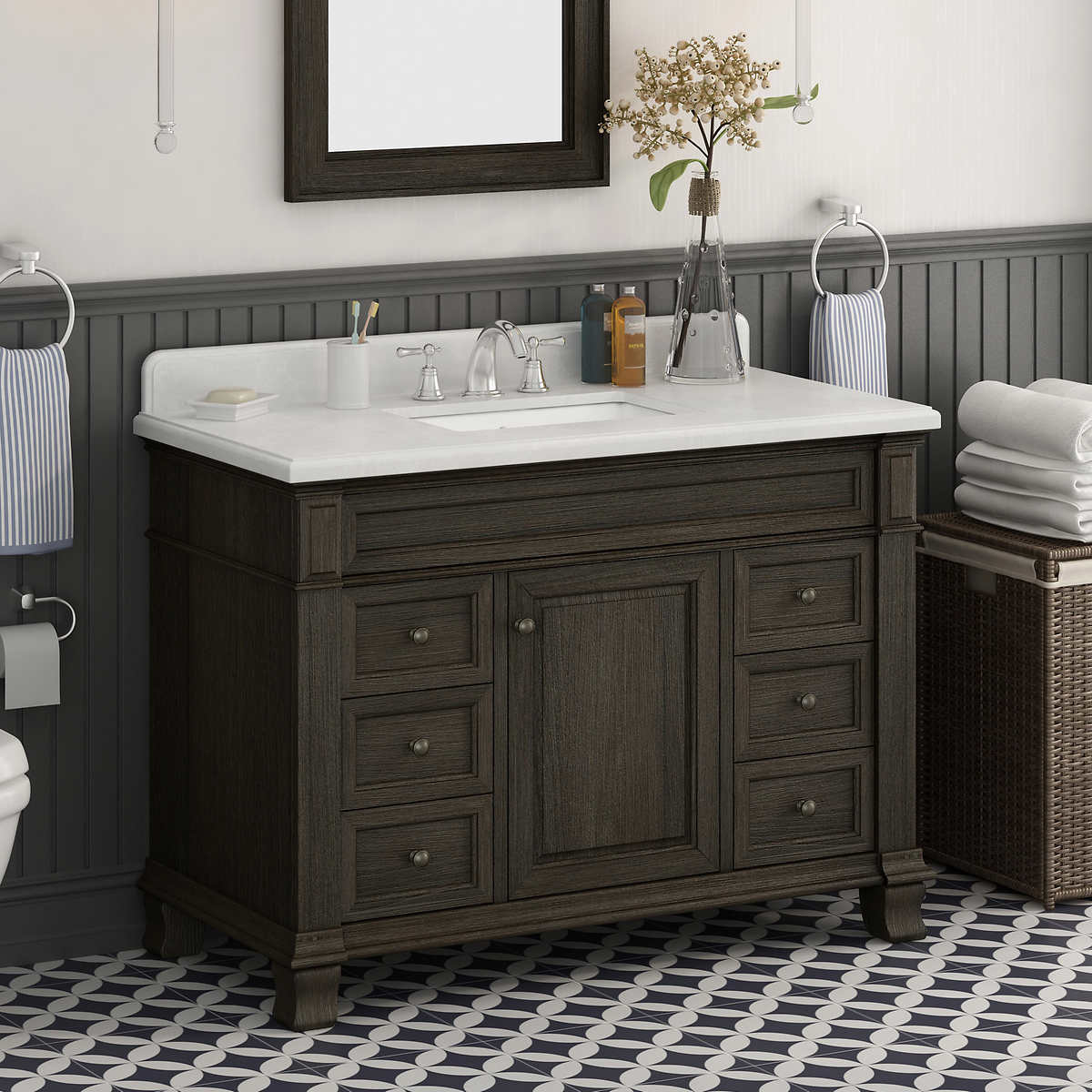 Single Sink Vanities Costco - Bathroom sink with vanity