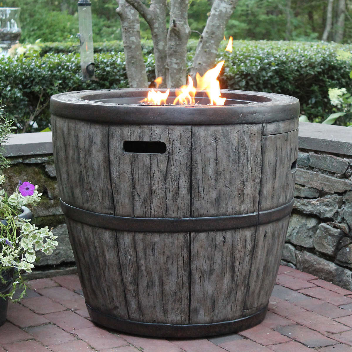 Wine Barrel Fire Table - Fire Pits & Chat Sets