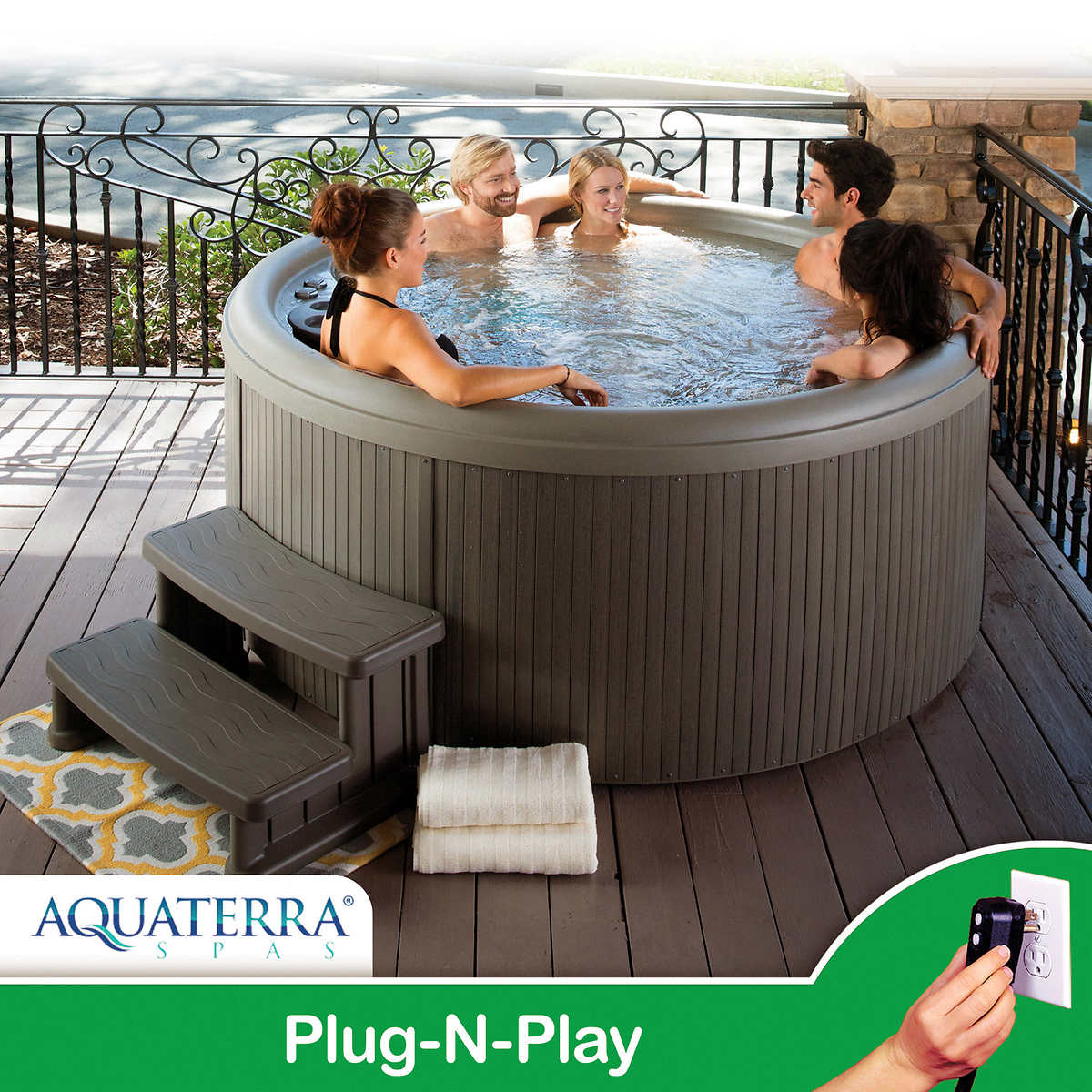 Aquaterra Spas Newporter 30 22 Jet 5 Person Spa Regulations For Wiring Up A Hot Tub 1