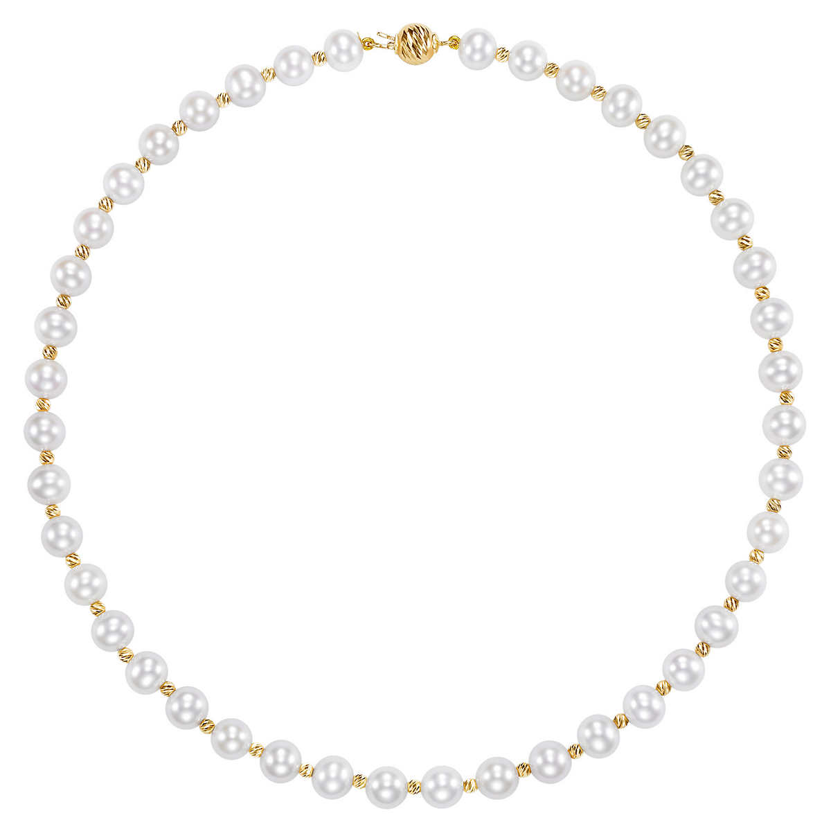 Freshwater 885mm Pearl 14kt Yellow Gold Strand