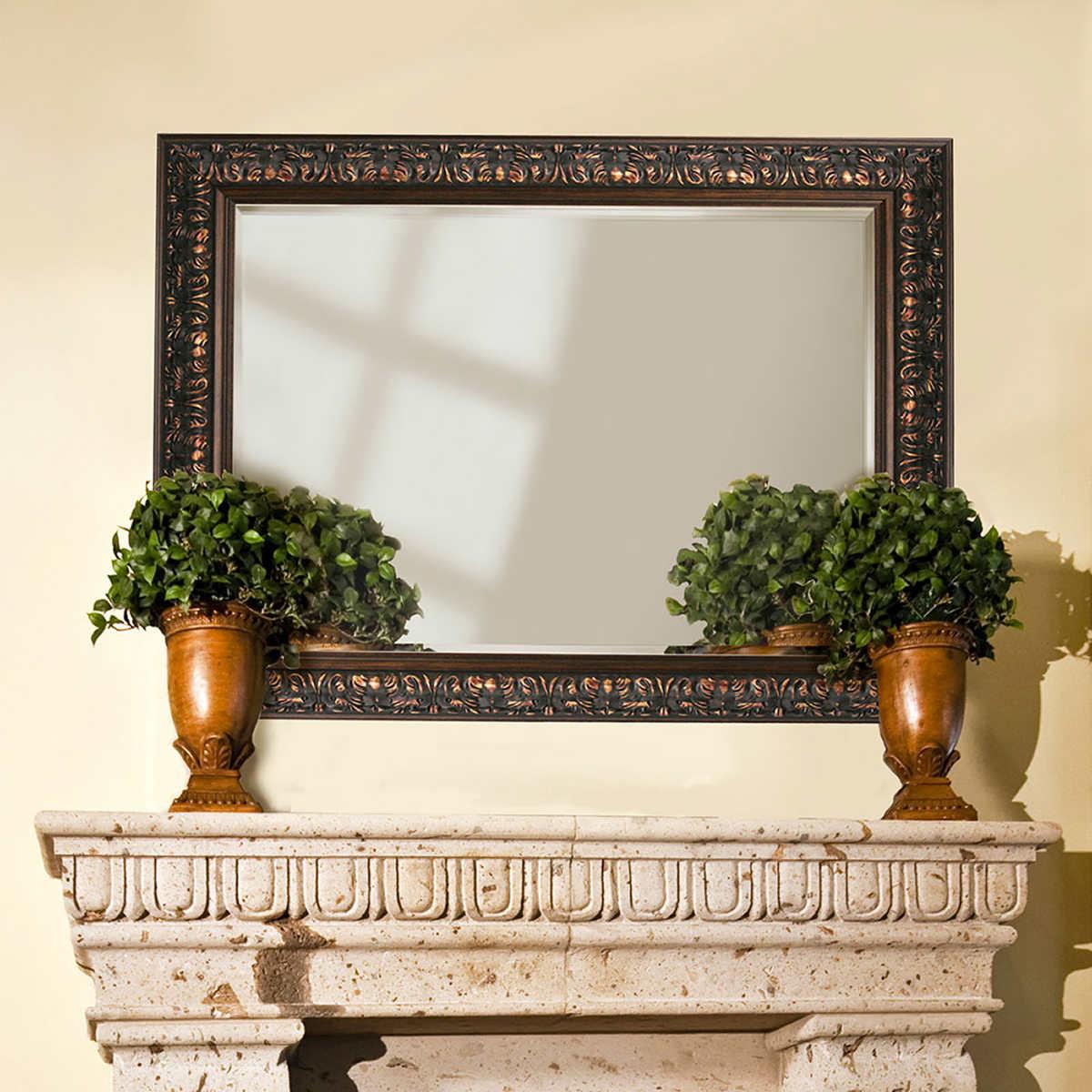 This italian circular wooden wall mirror is no longer available - Athena Mirror