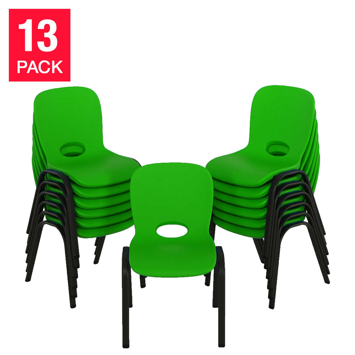 Lifetime  Kids Stacking Chair 13pk   LimeClassroom Furniture   Costco. Green Plastic Stack Chairs. Home Design Ideas