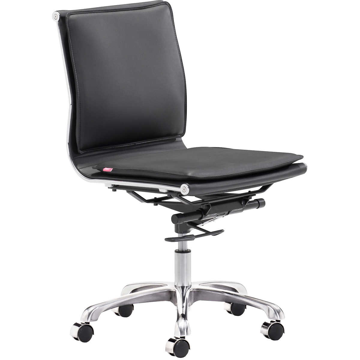 Black and white office chair - Addison Armless Office Chair Black
