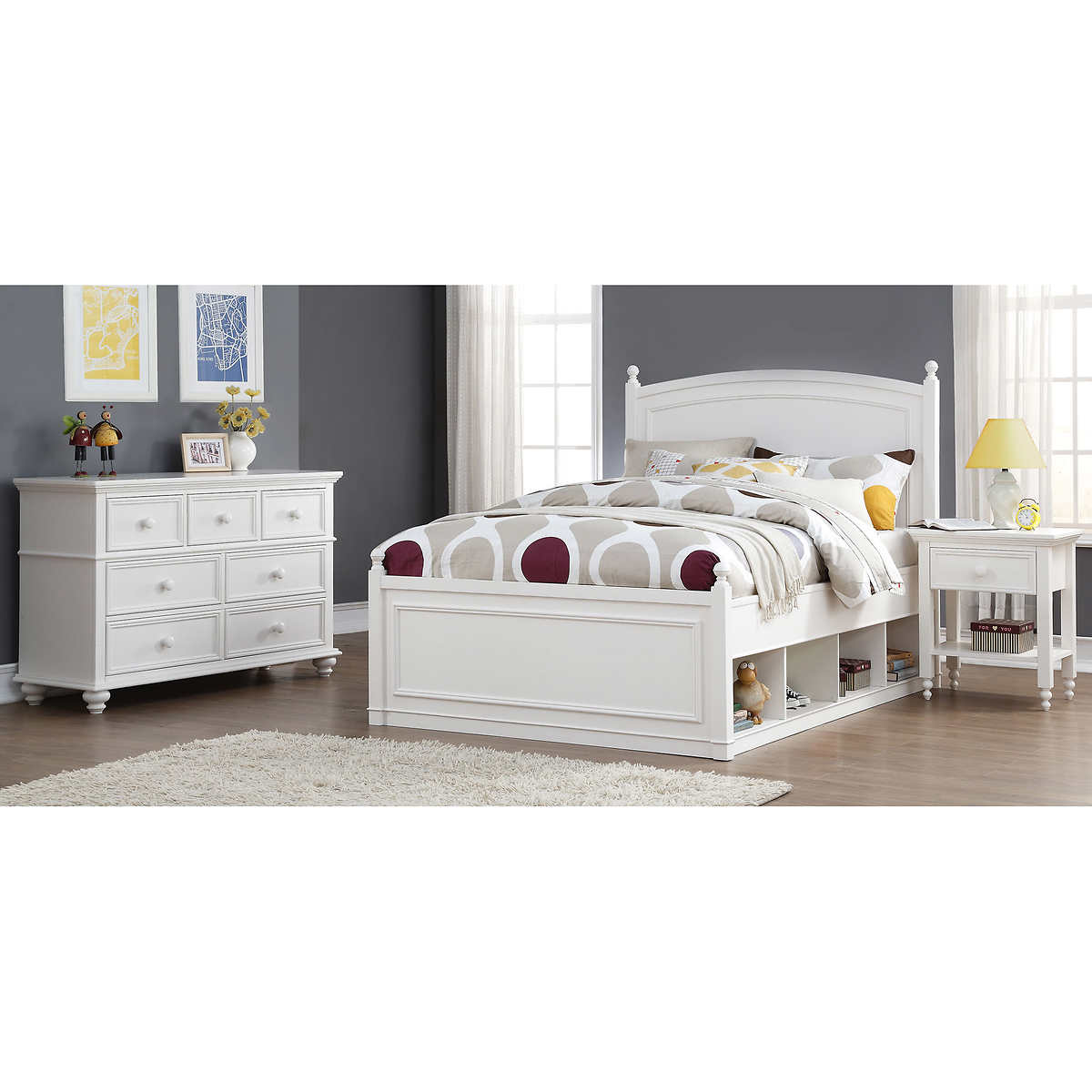 Mila 3-piece Full Storage Bedroom Set