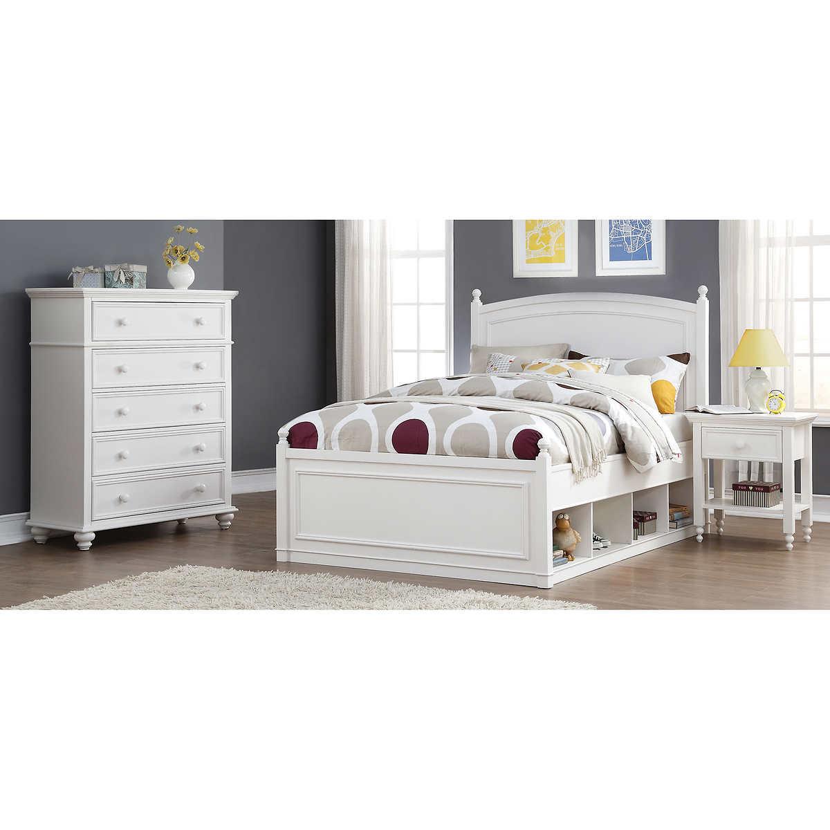 Mila 3 Piece Full Storage Bedroom Set