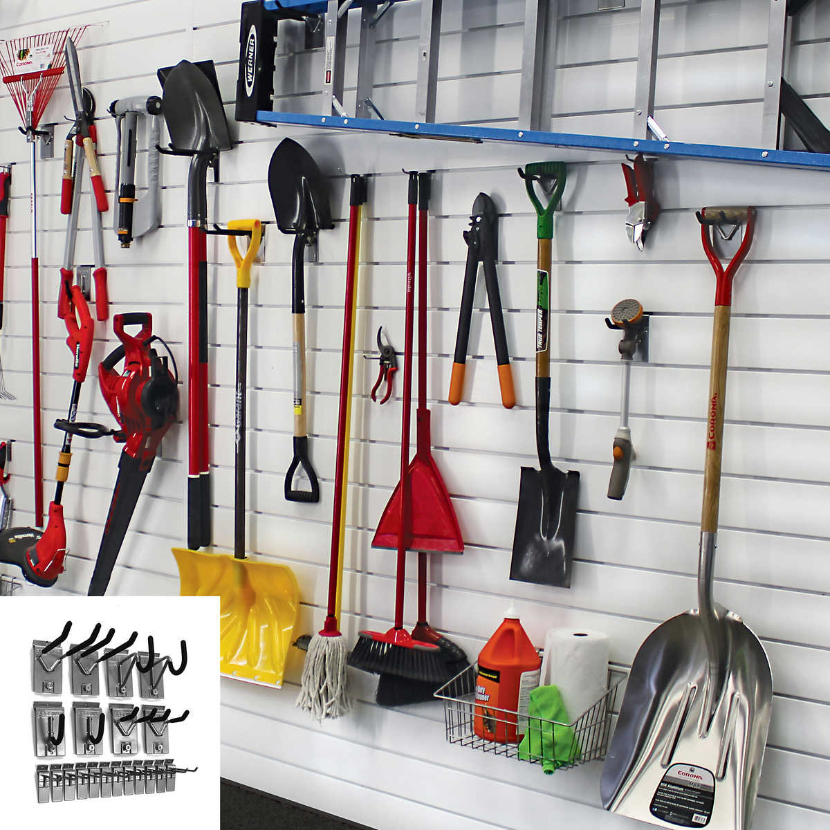 Proslat 8' Panel Set and 20-piece Hook Kit Bundle - Garage Storage Racks Costco