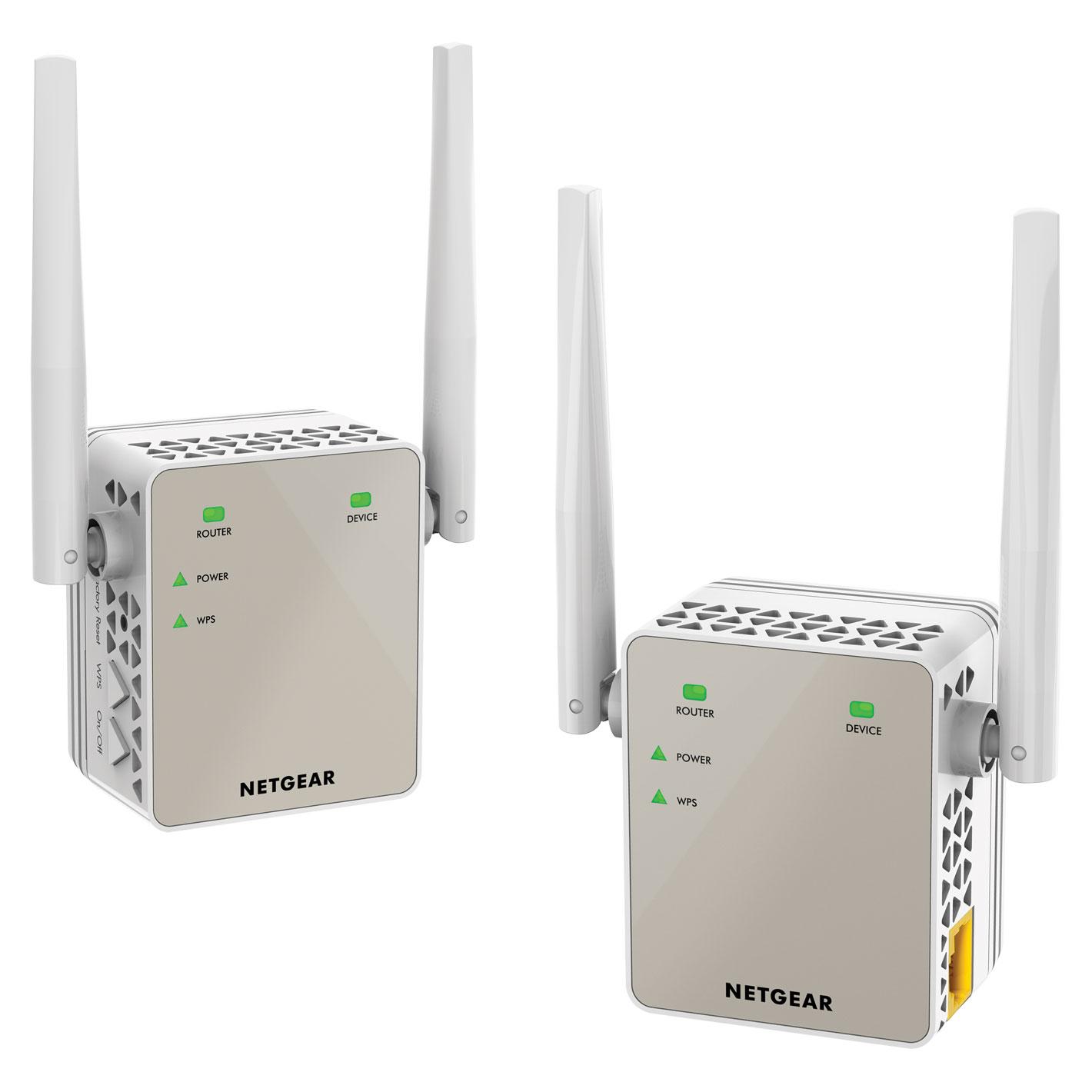 NETGEAR AC1200 Plug-In Wi-Fi Range Extender 2 Pack | eBay