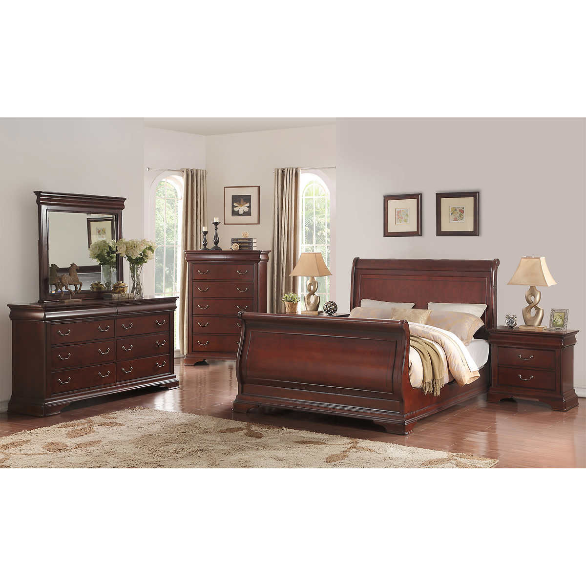 cal king bedroom sets  costco - madeline piece cal king bedroom set