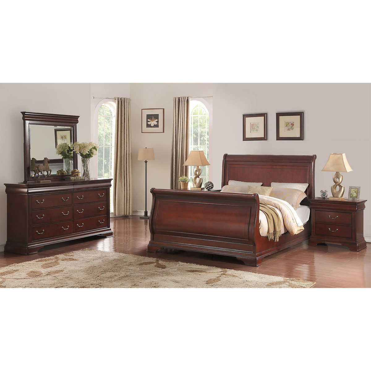 cal king bedroom sets  costco - madeline piece cal king bedroom set